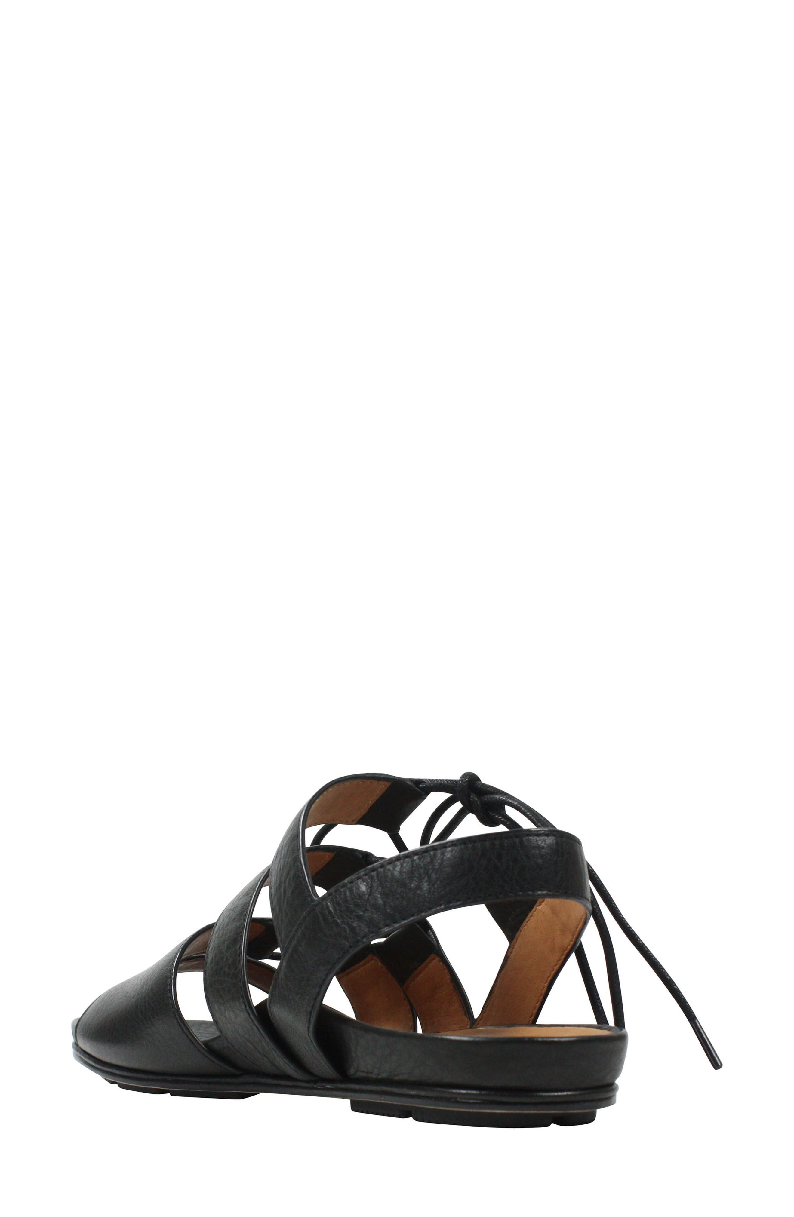 Digbee Sandal,                             Alternate thumbnail 2, color,                             BLACK LEATHER