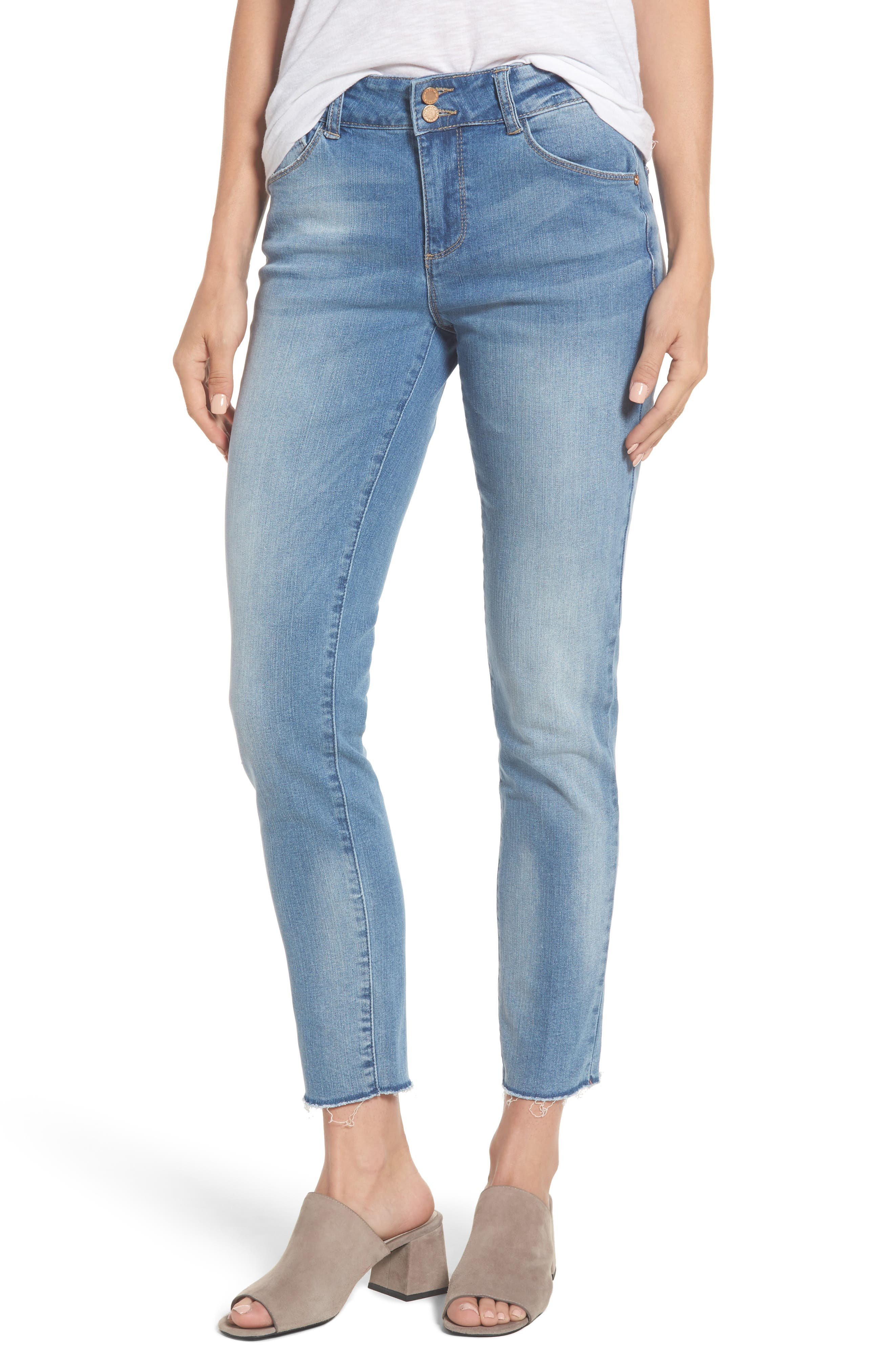 Two-Button High Waist Skinny Jeans,                             Main thumbnail 2, color,