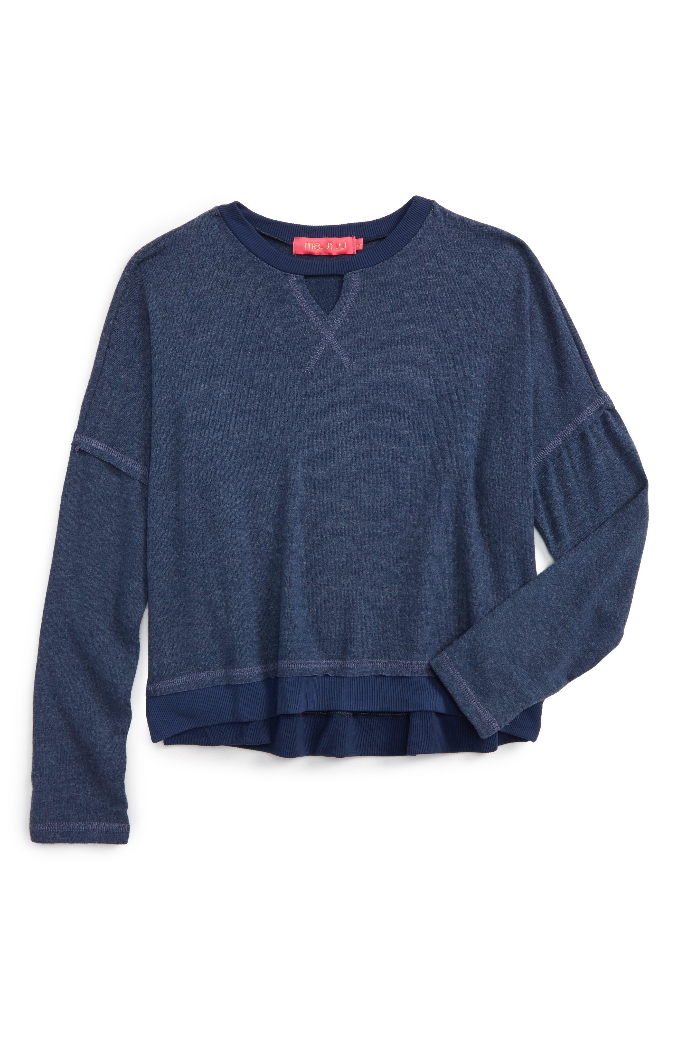 Gigi Cutout Sweatshirt,                             Main thumbnail 1, color,                             410