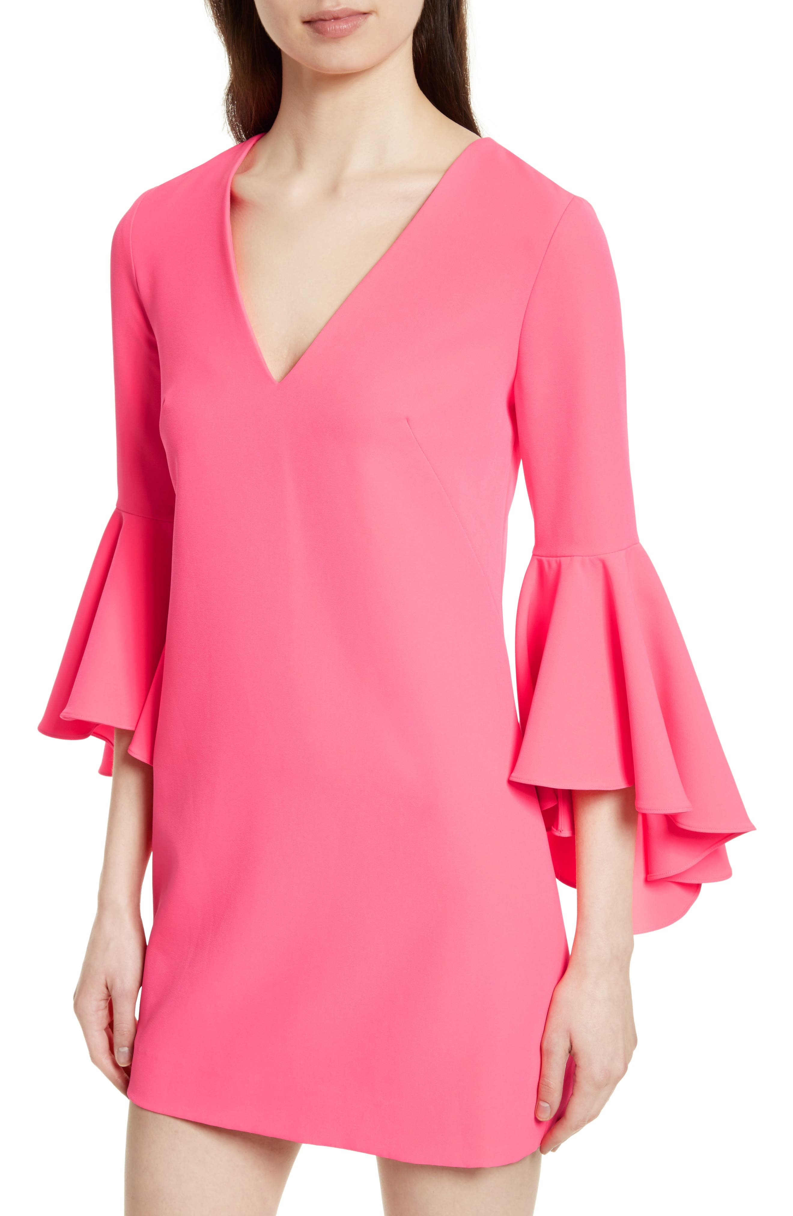 Nicole Bell Sleeve Dress,                             Alternate thumbnail 56, color,