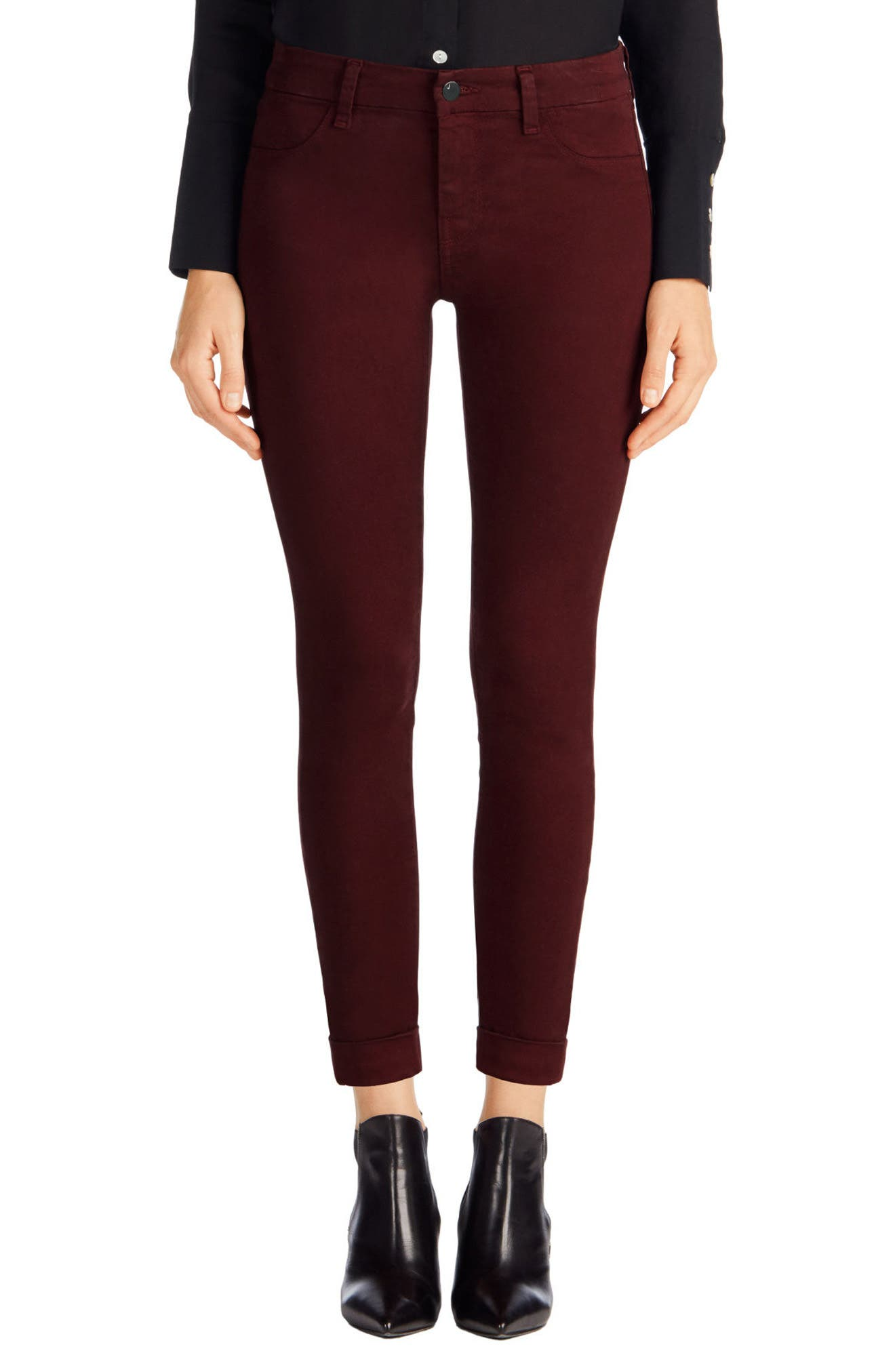 'Anja' Cuffed Crop Skinny Jeans,                             Alternate thumbnail 14, color,