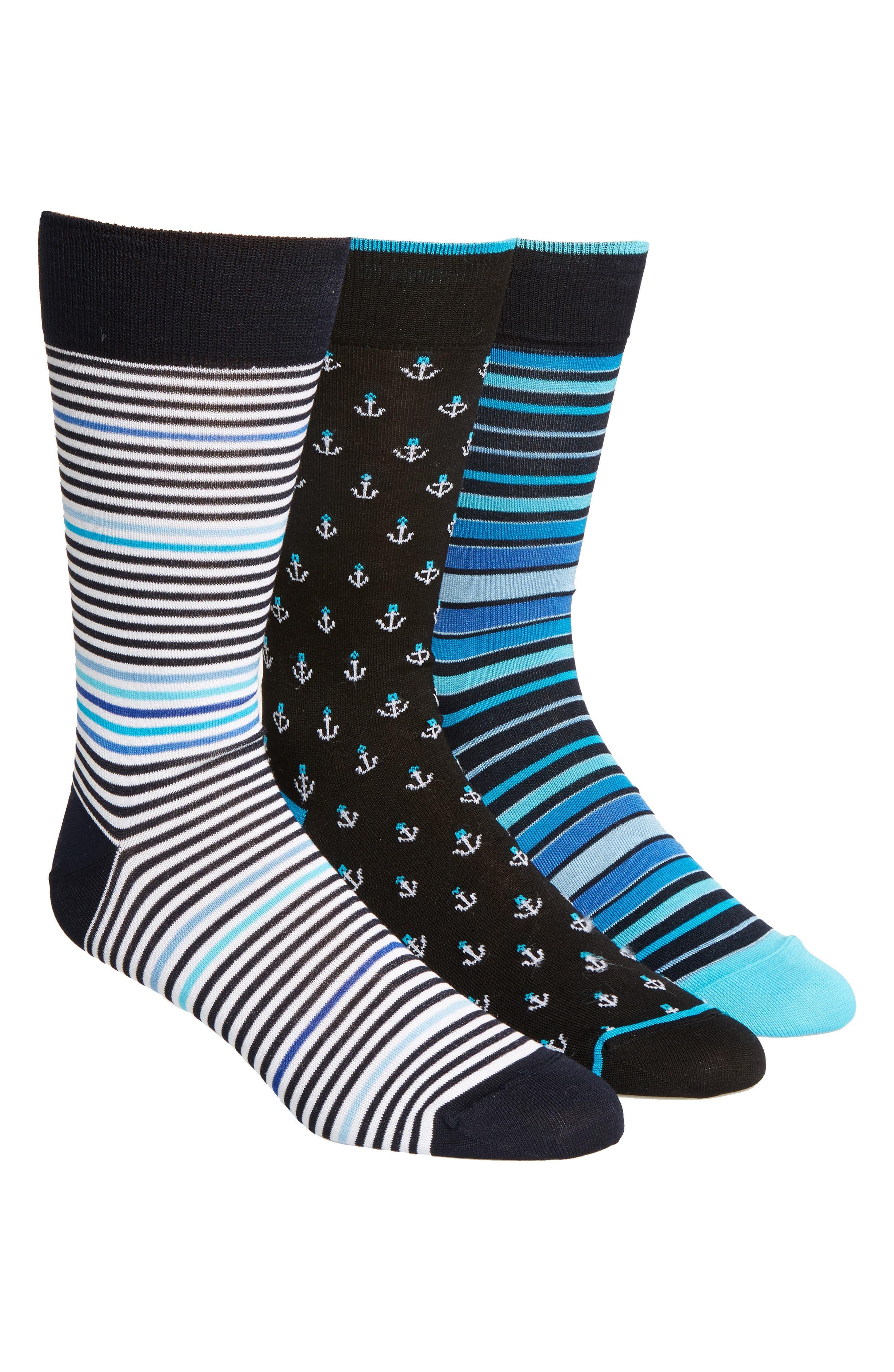 3-Pack Cotton Blend Socks,                             Main thumbnail 1, color,                             410
