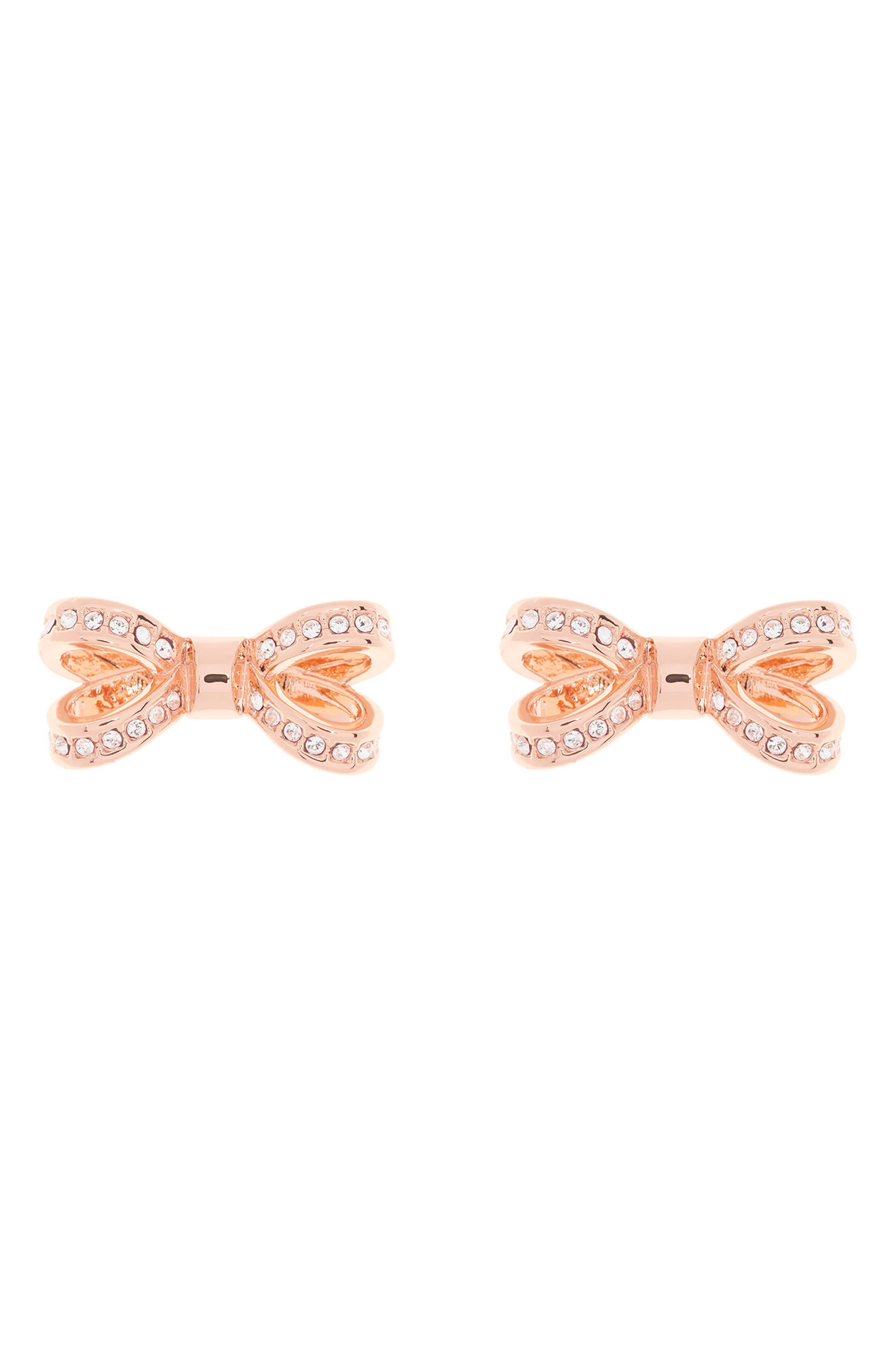 Mini Opulent Pavé Bow Stud Earrings,                             Main thumbnail 2, color,