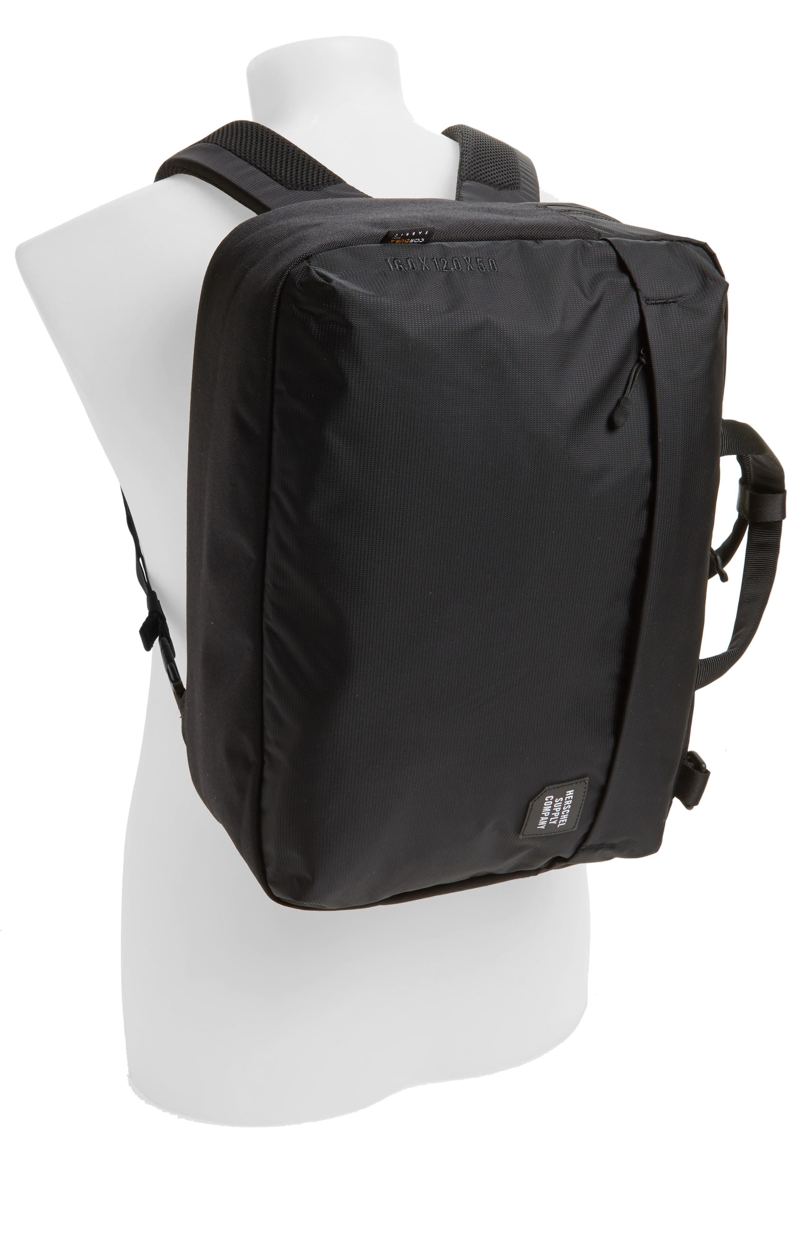 Britannia Convertible Messenger Bag,                             Alternate thumbnail 2, color,                             BLACK
