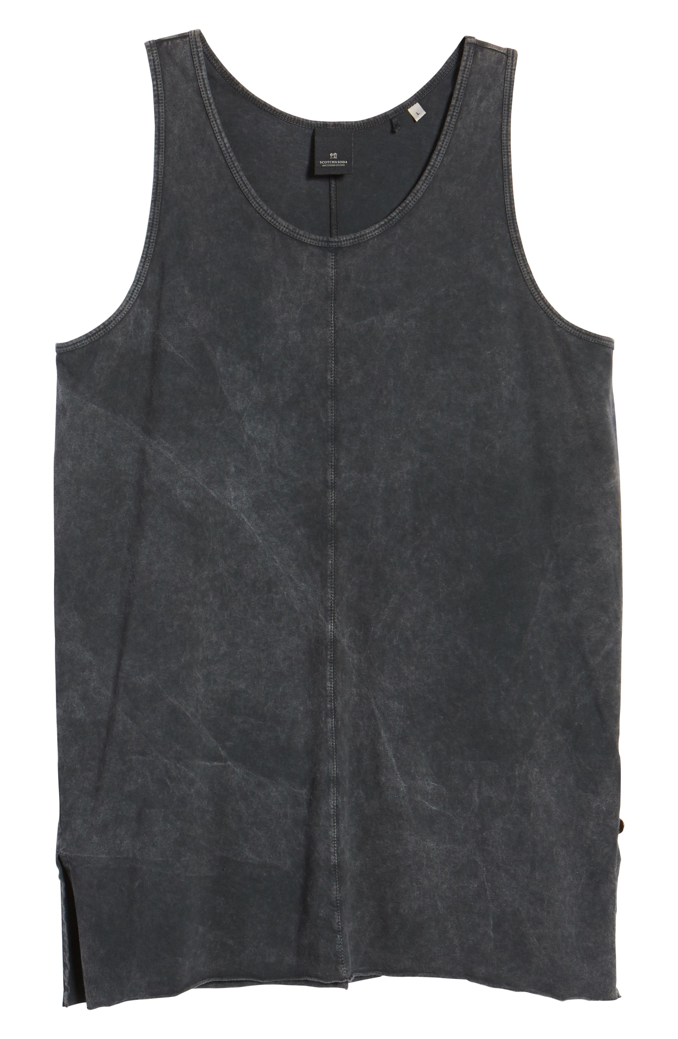Seamed Tank,                             Alternate thumbnail 6, color,                             CHARCOAL