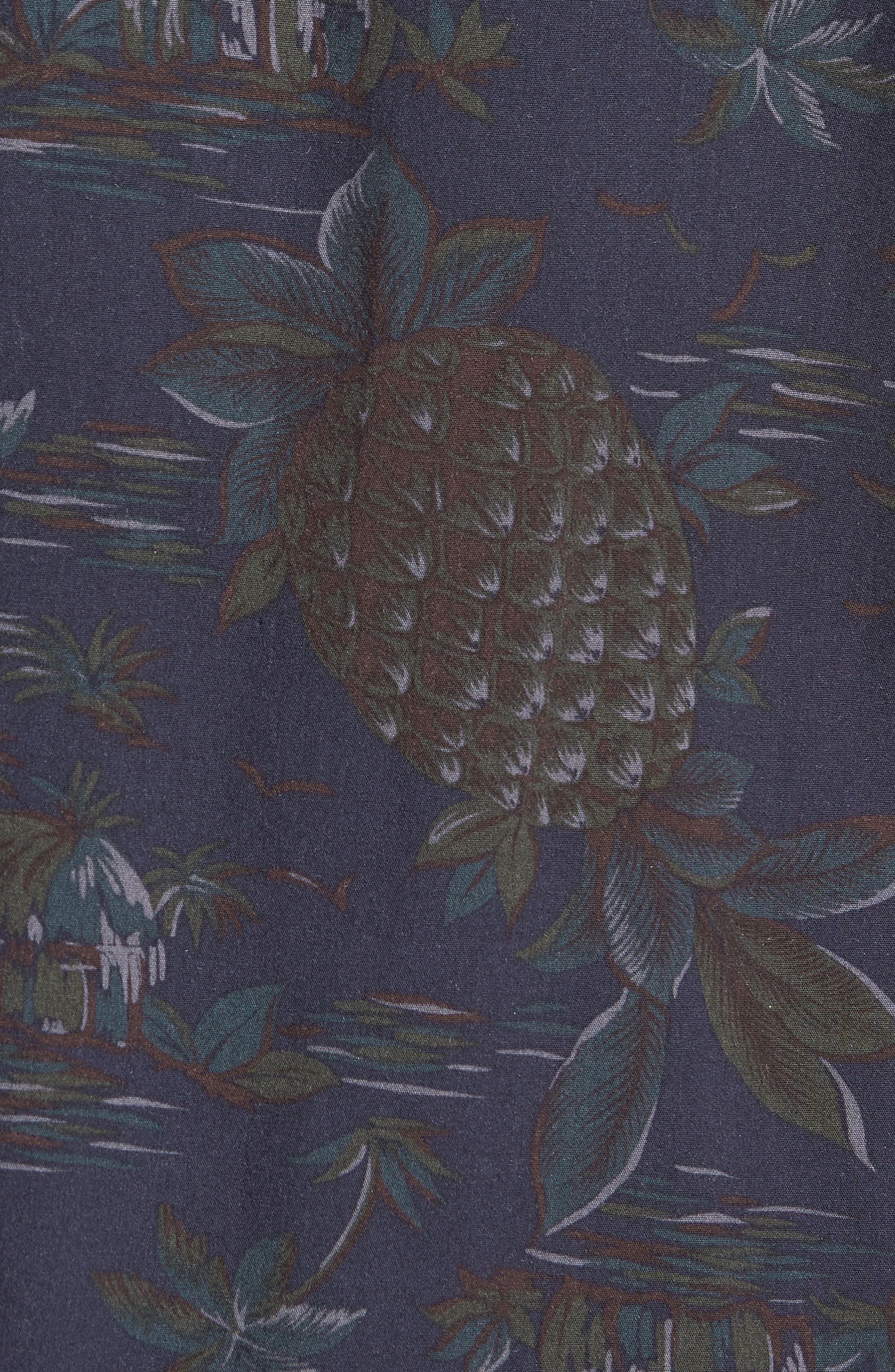 Classic Fit Tropical Short Sleeve Sport Shirt,                             Alternate thumbnail 5, color,                             463