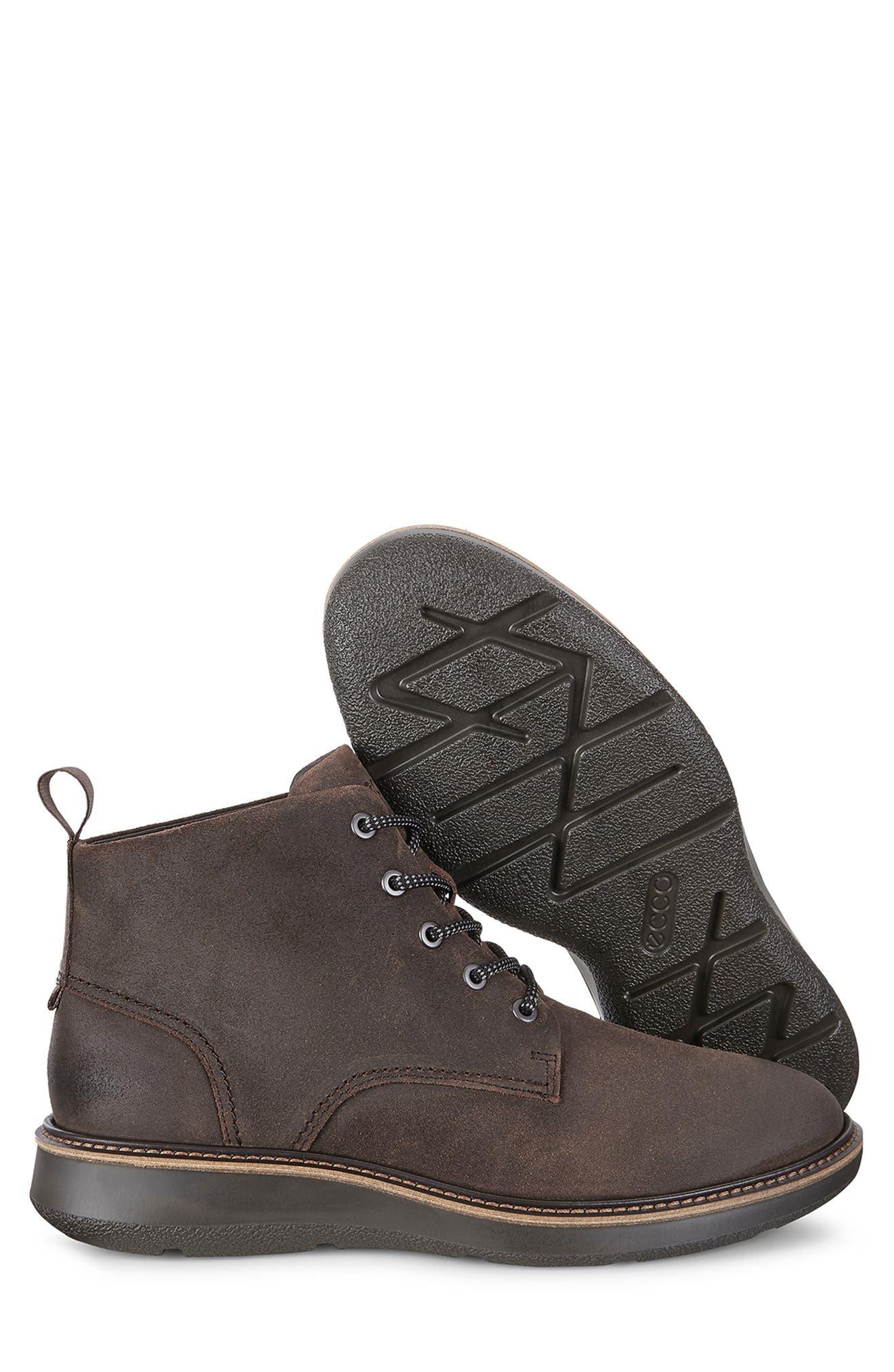 Aurora Plain Toe Boot,                             Alternate thumbnail 4, color,                             COFFEE SUEDE