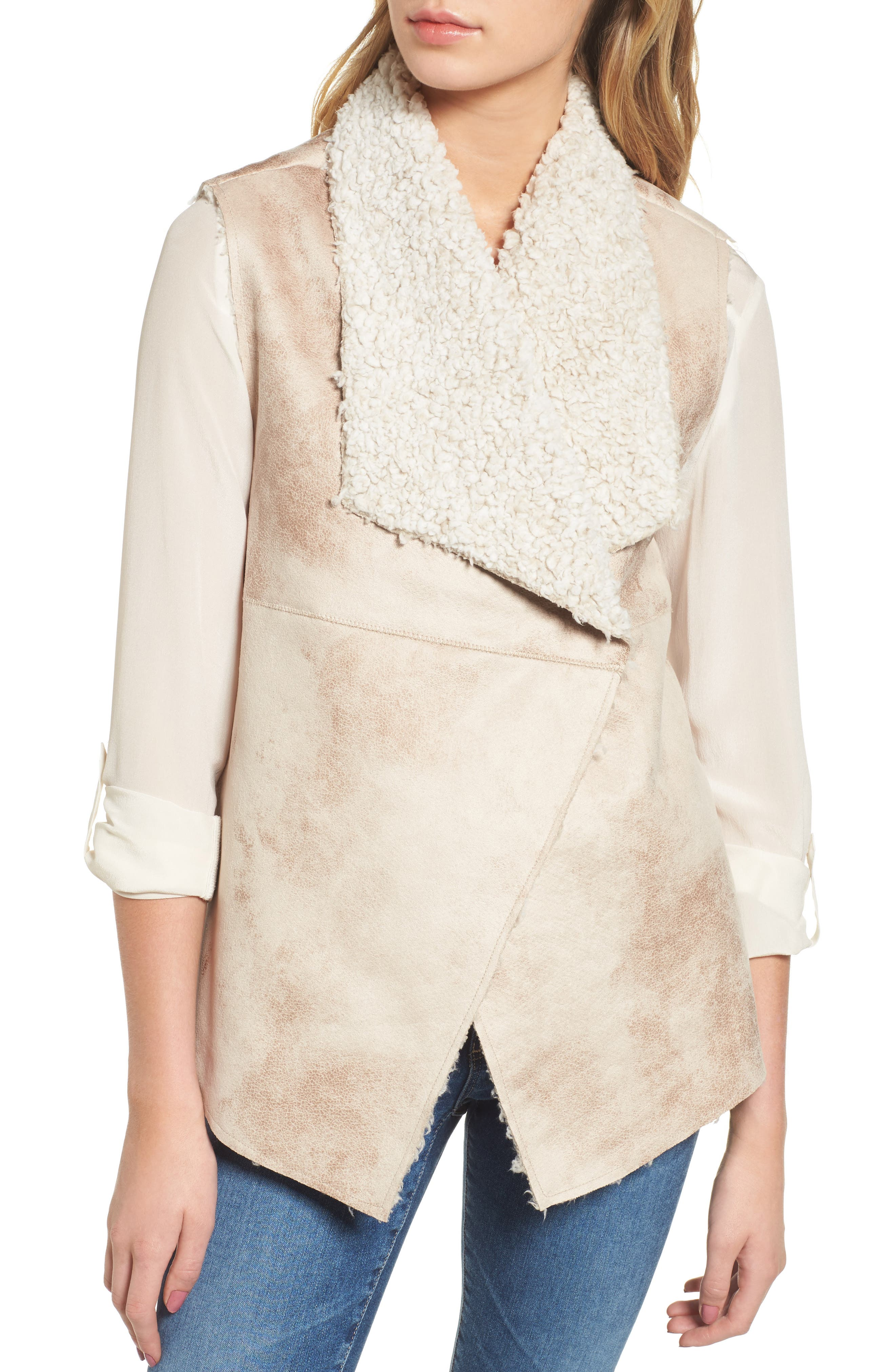 Frosty Faux Shearling Vest,                             Alternate thumbnail 4, color,