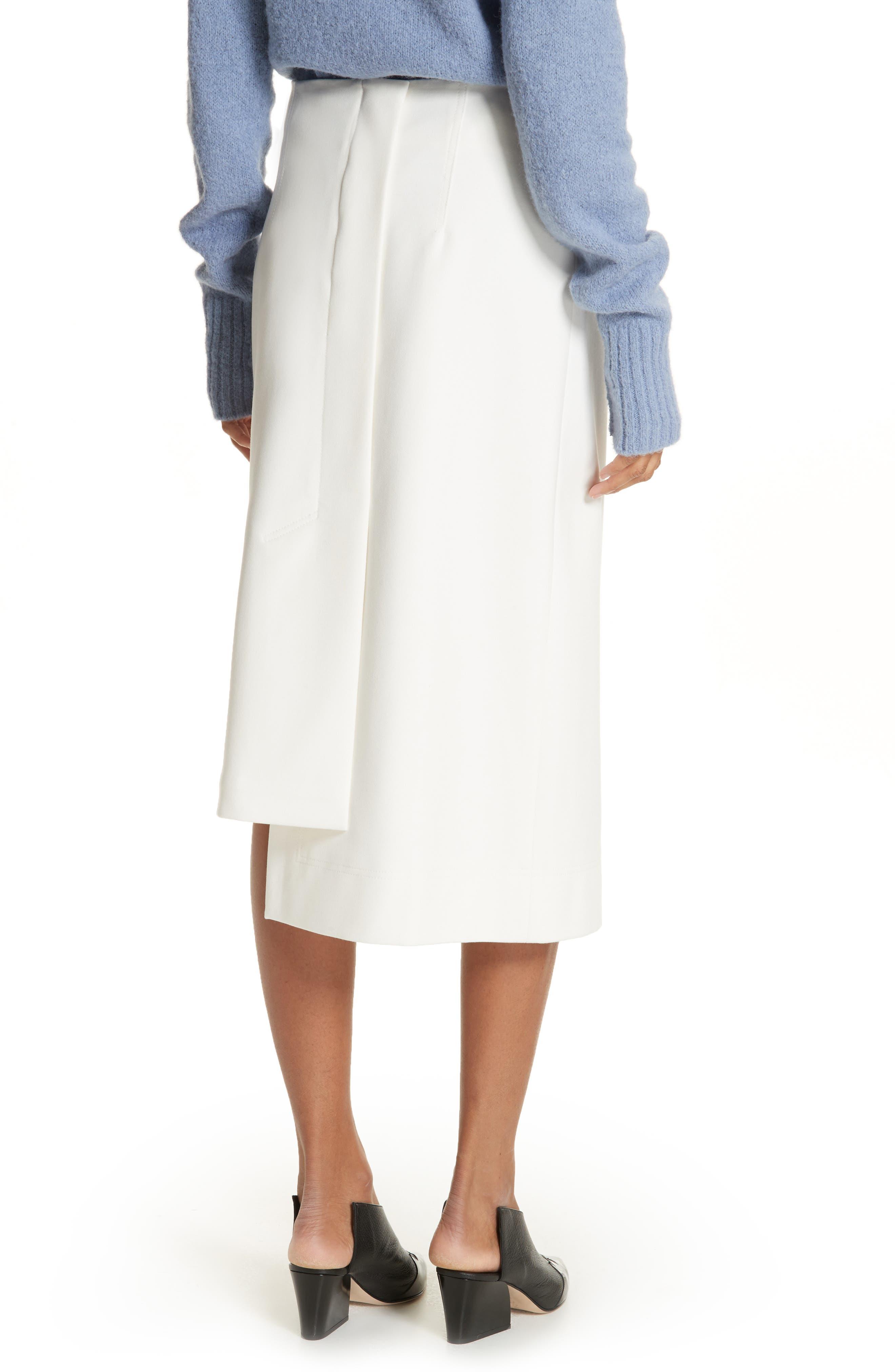 Mora Asymmetrical Faux Wrap Skirt,                             Alternate thumbnail 2, color,                             903