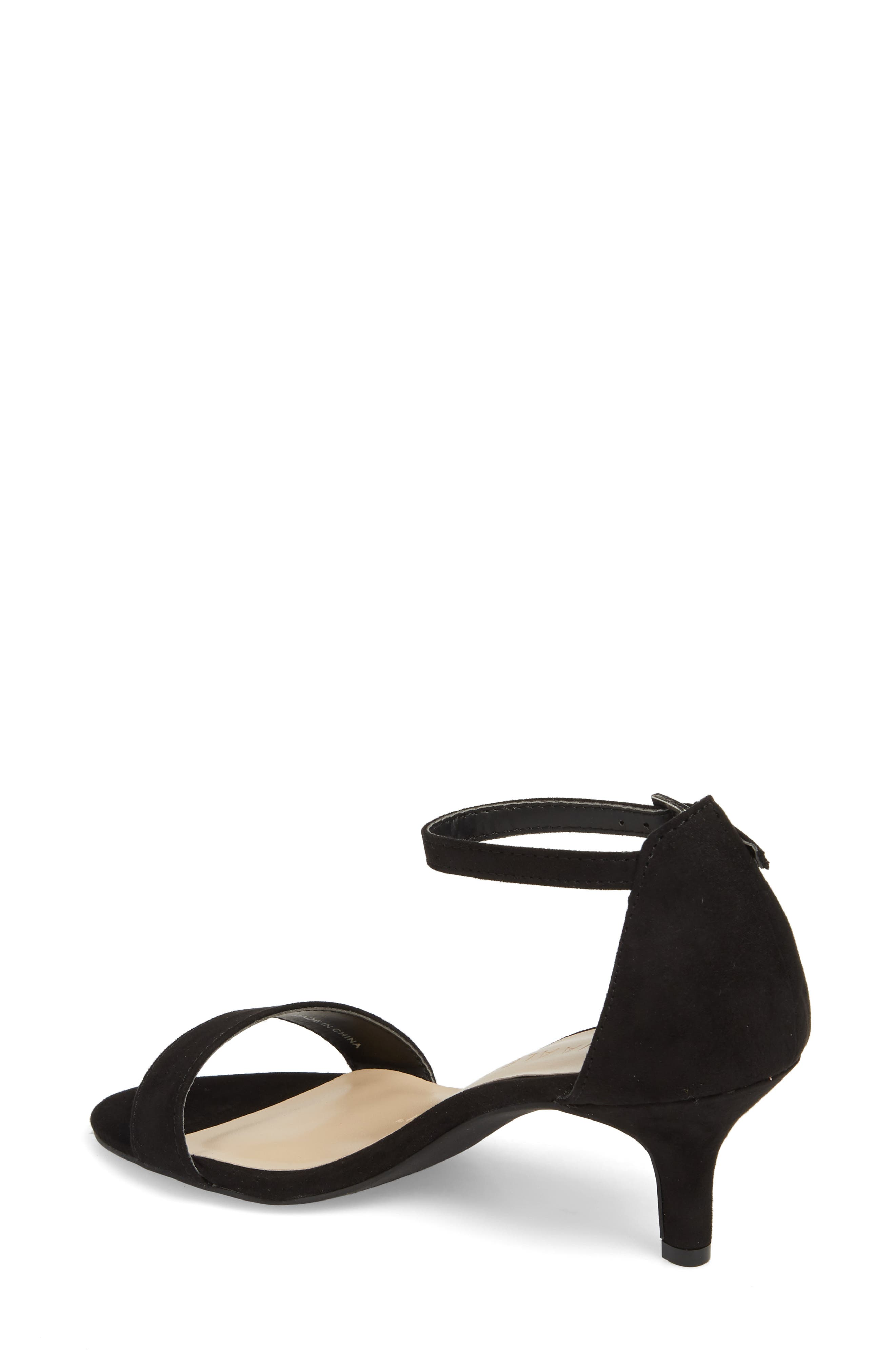 Monroe Sandal,                             Alternate thumbnail 2, color,                             BLACK SUEDE