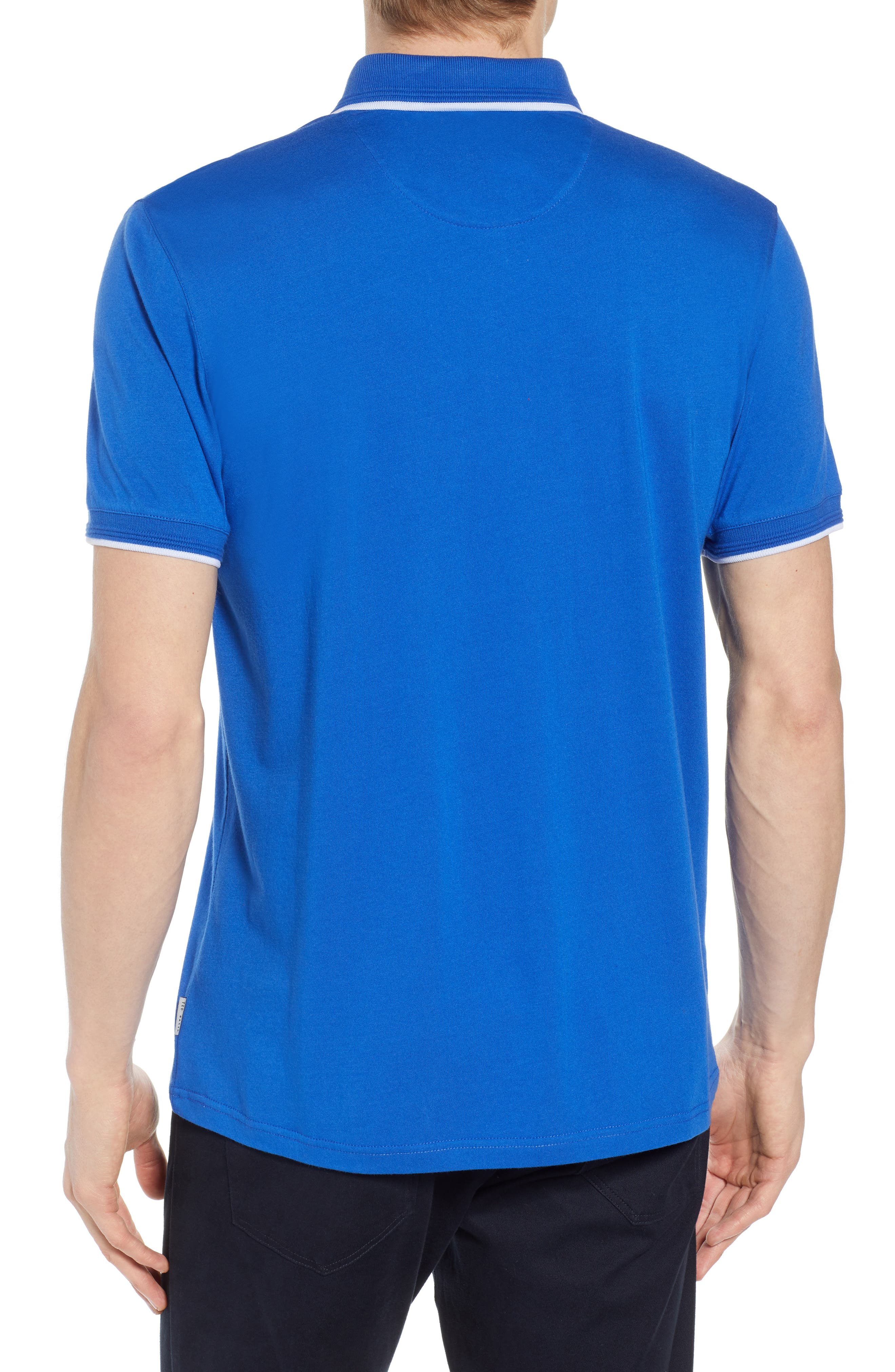 Derry Modern Slim Fit Polo,                             Alternate thumbnail 2, color,                             BRIGHT BLUE
