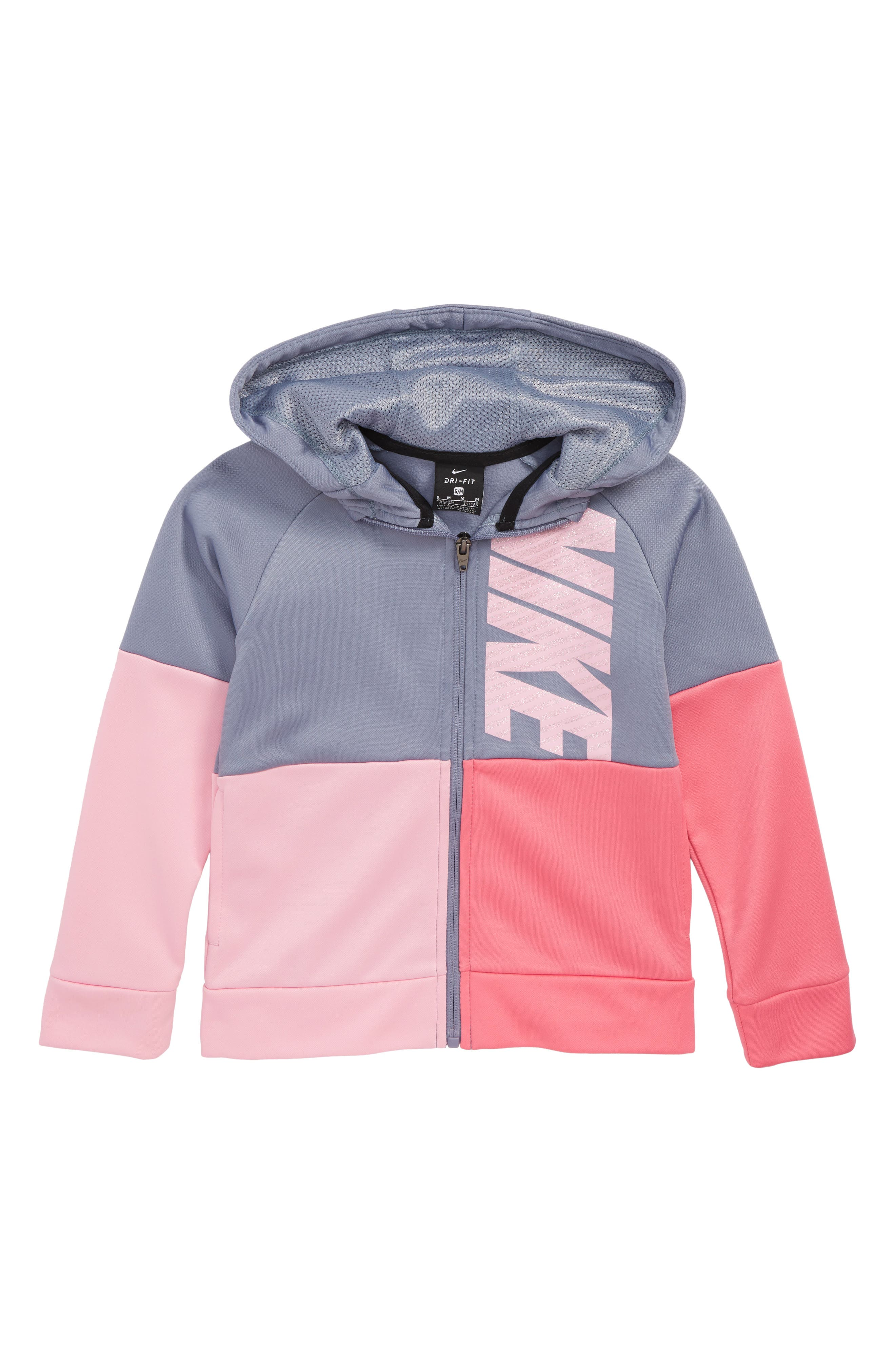 Therma Hooded Colorblock Jacket,                             Main thumbnail 1, color,                             021