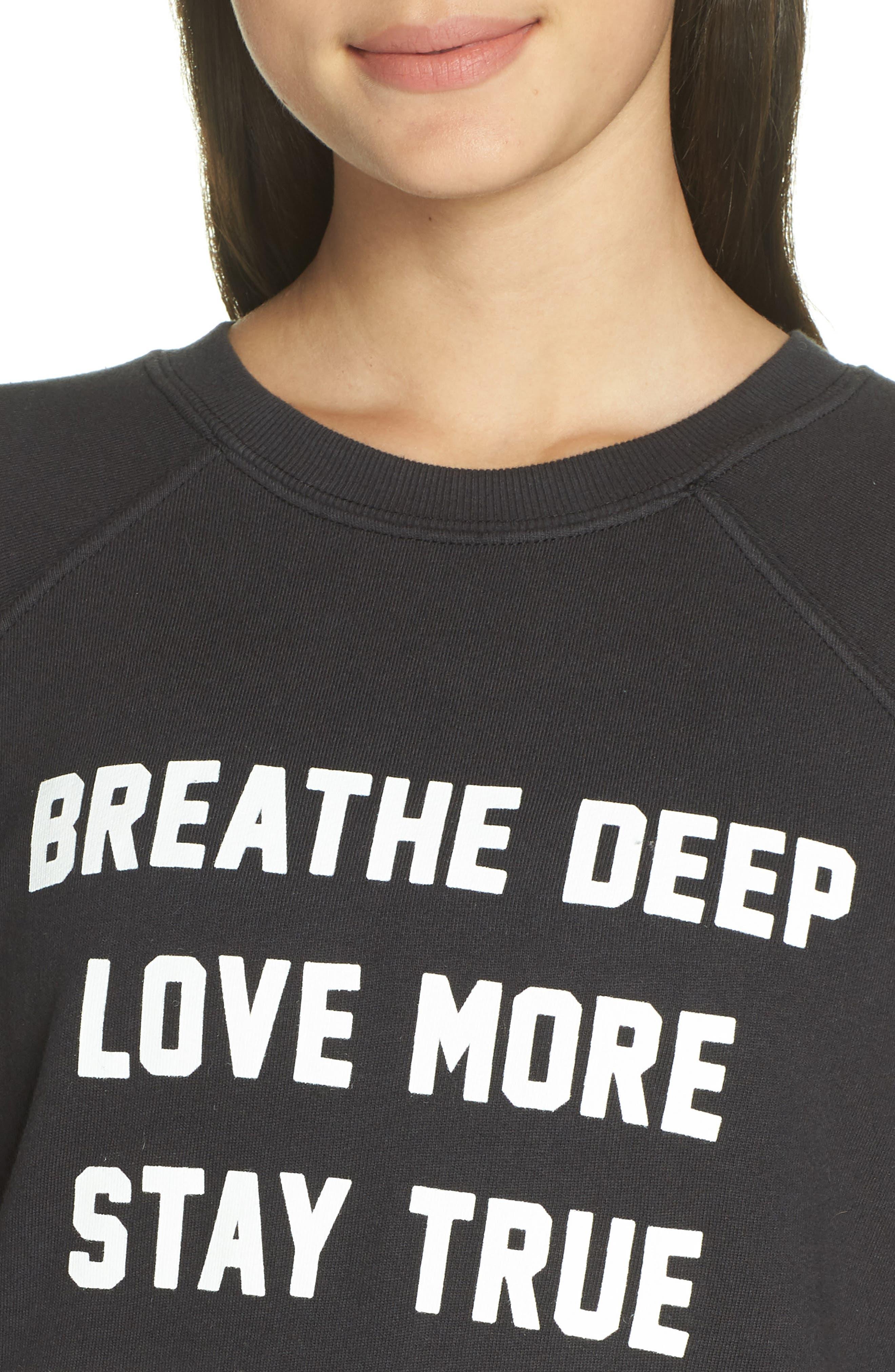 Breathe Sweatshirt,                             Alternate thumbnail 4, color,                             003
