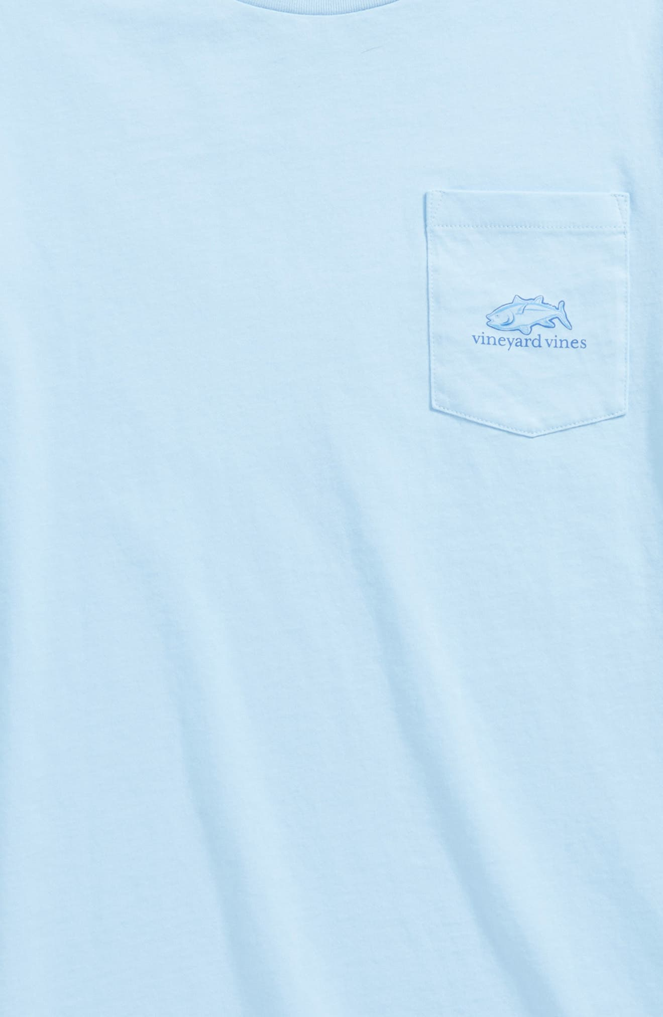 Tuna in Coral Whale Pocket T-Shirt,                             Alternate thumbnail 3, color,