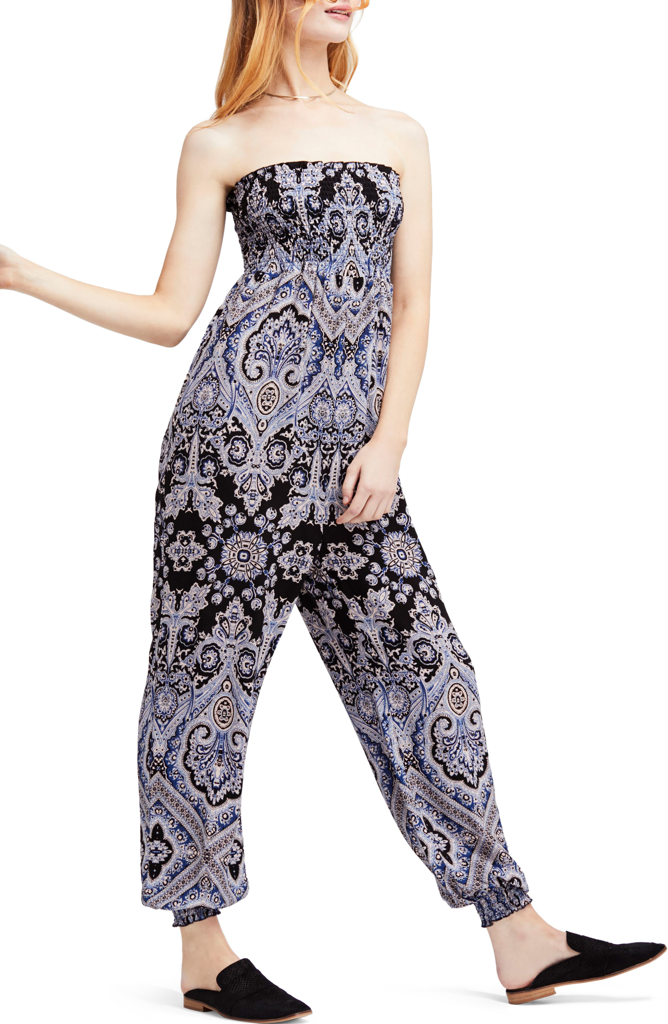 Thinking of You Smocked Jumpsuit,                         Main,                         color, 019