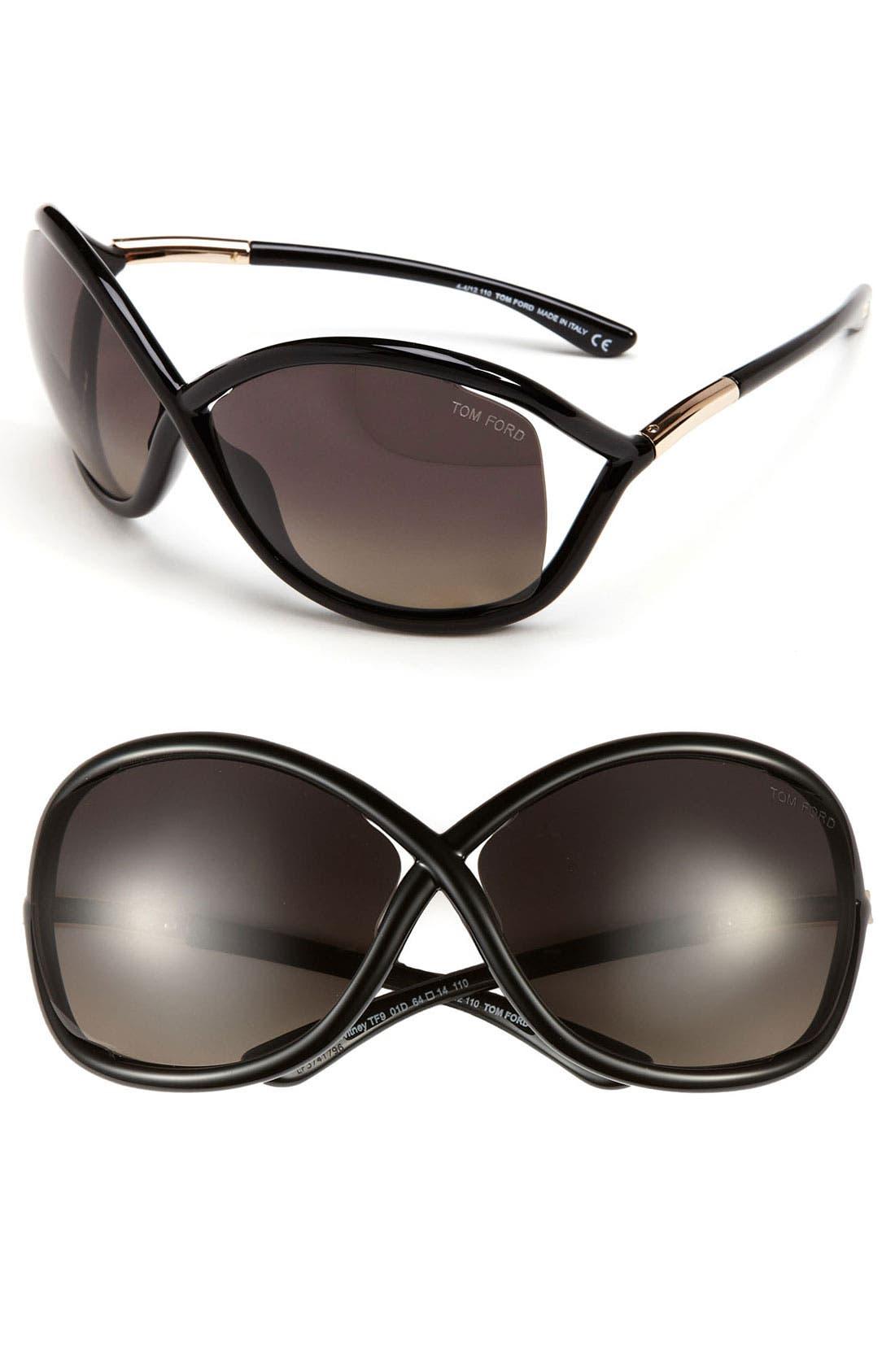 'Whitney' 64mm Polarized Sunglasses,                             Main thumbnail 1, color,                             001