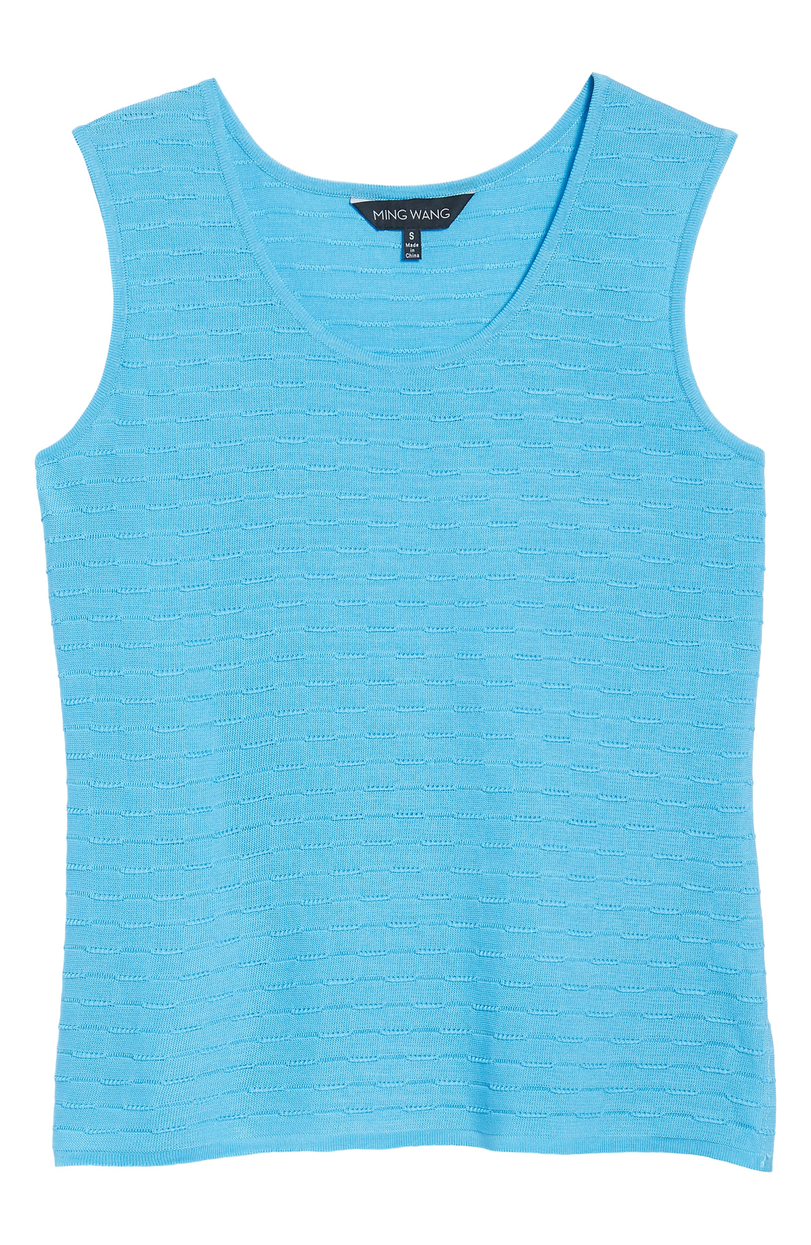 Textured Tank,                             Alternate thumbnail 6, color,                             BLUEBONNET