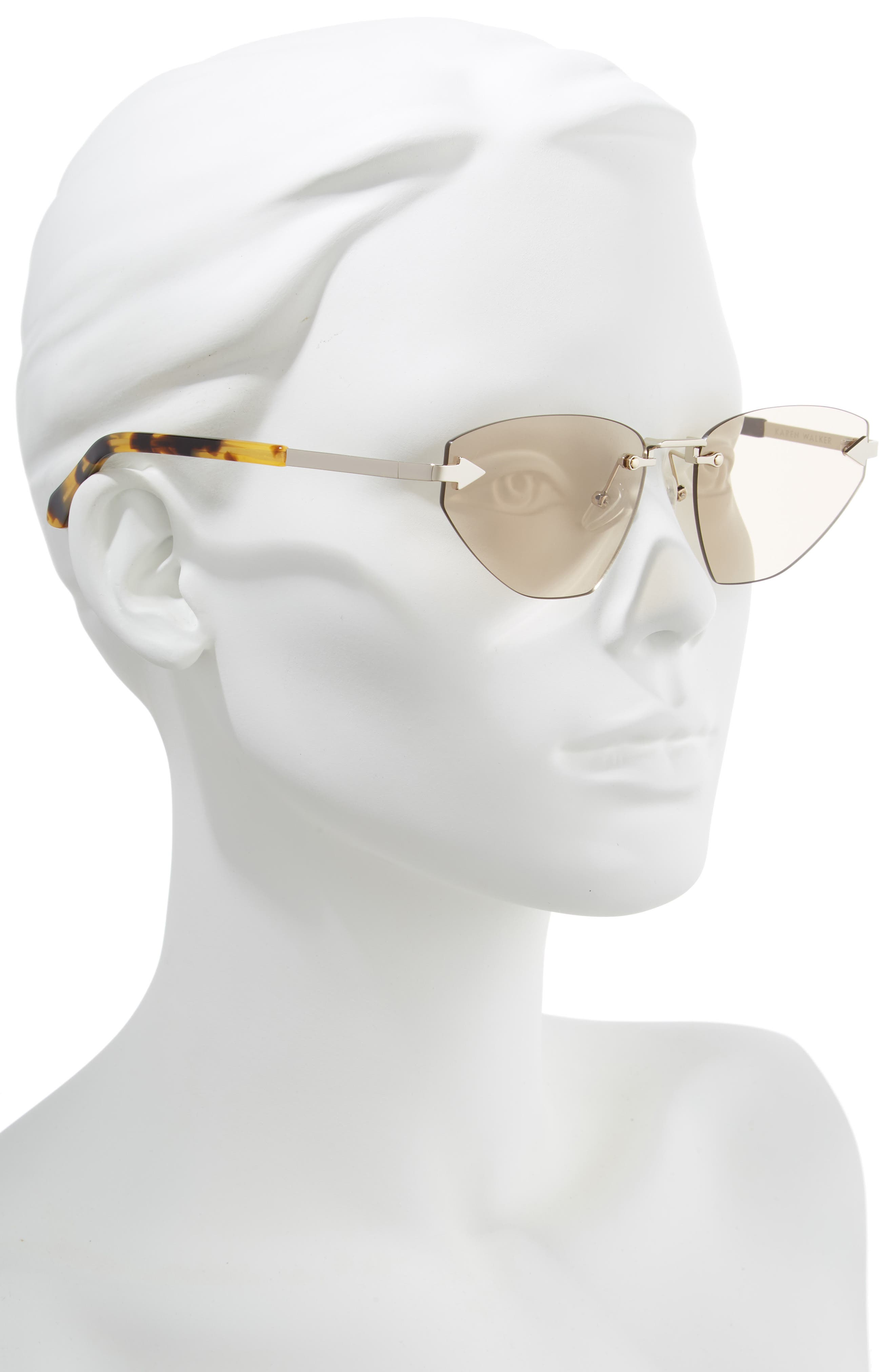 Heartache 60mm Cat Eye Sunglasses,                             Alternate thumbnail 2, color,                             GOLD/ TORTOISE