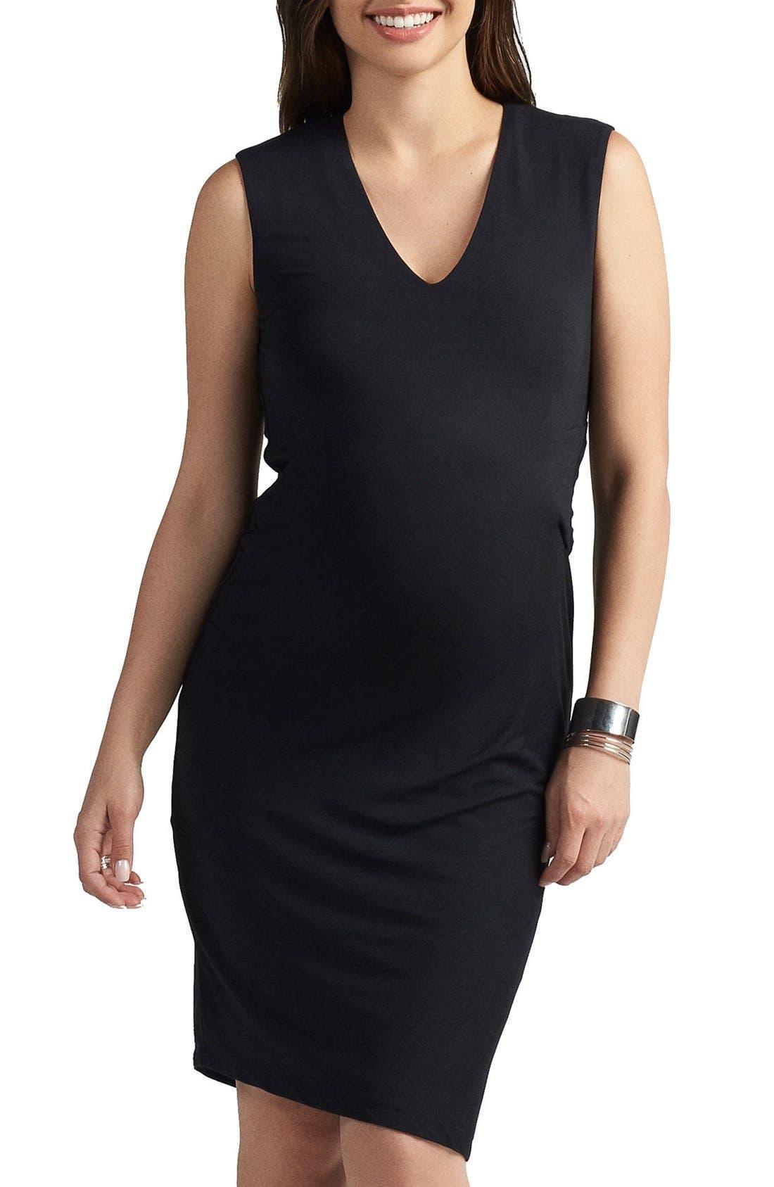 Margaux Maternity Dress,                             Main thumbnail 1, color,                             BLACK