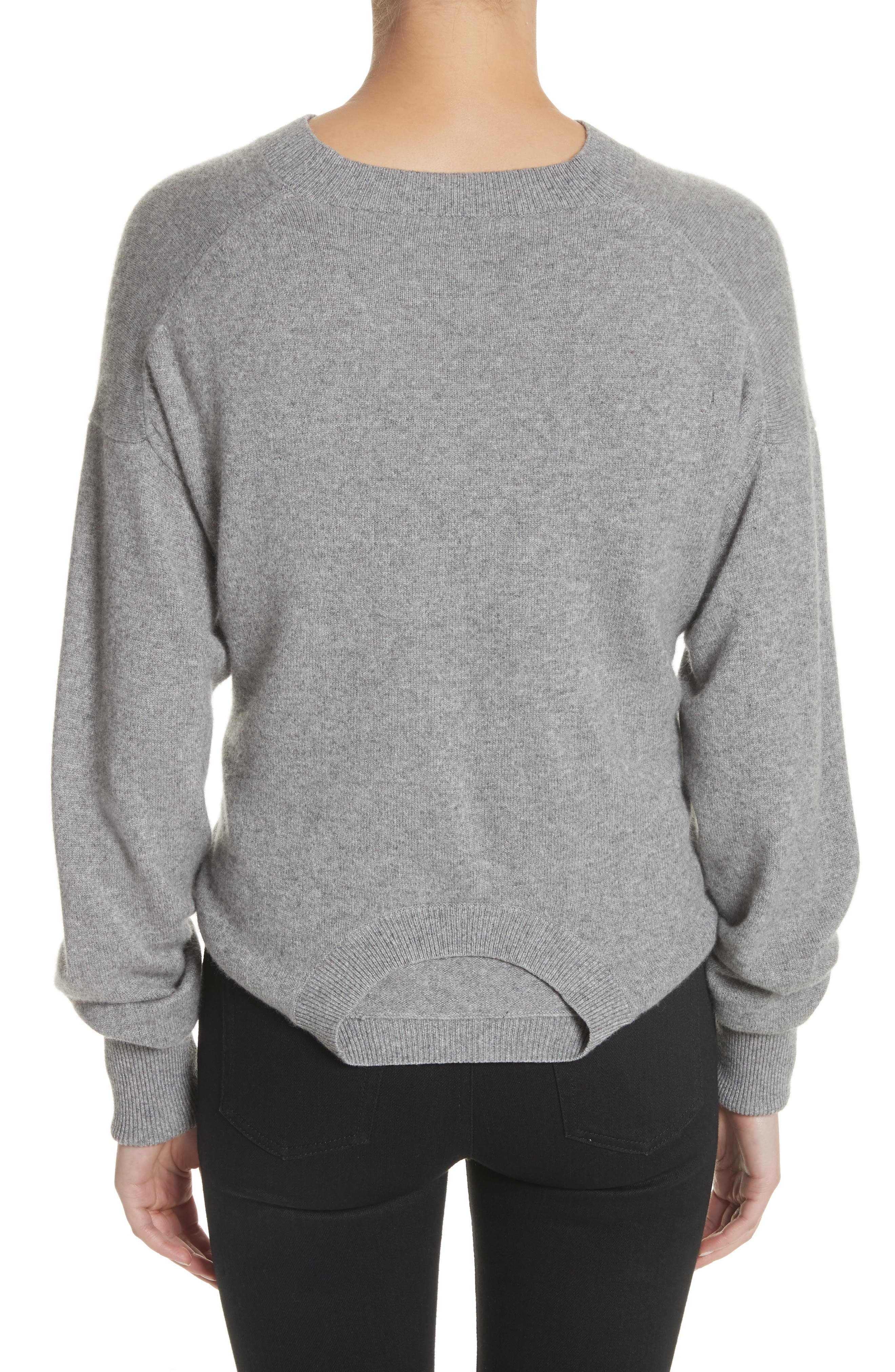 Inverted Tie Waist Wool & Cashmere Blend Sweater,                             Alternate thumbnail 2, color,                             030