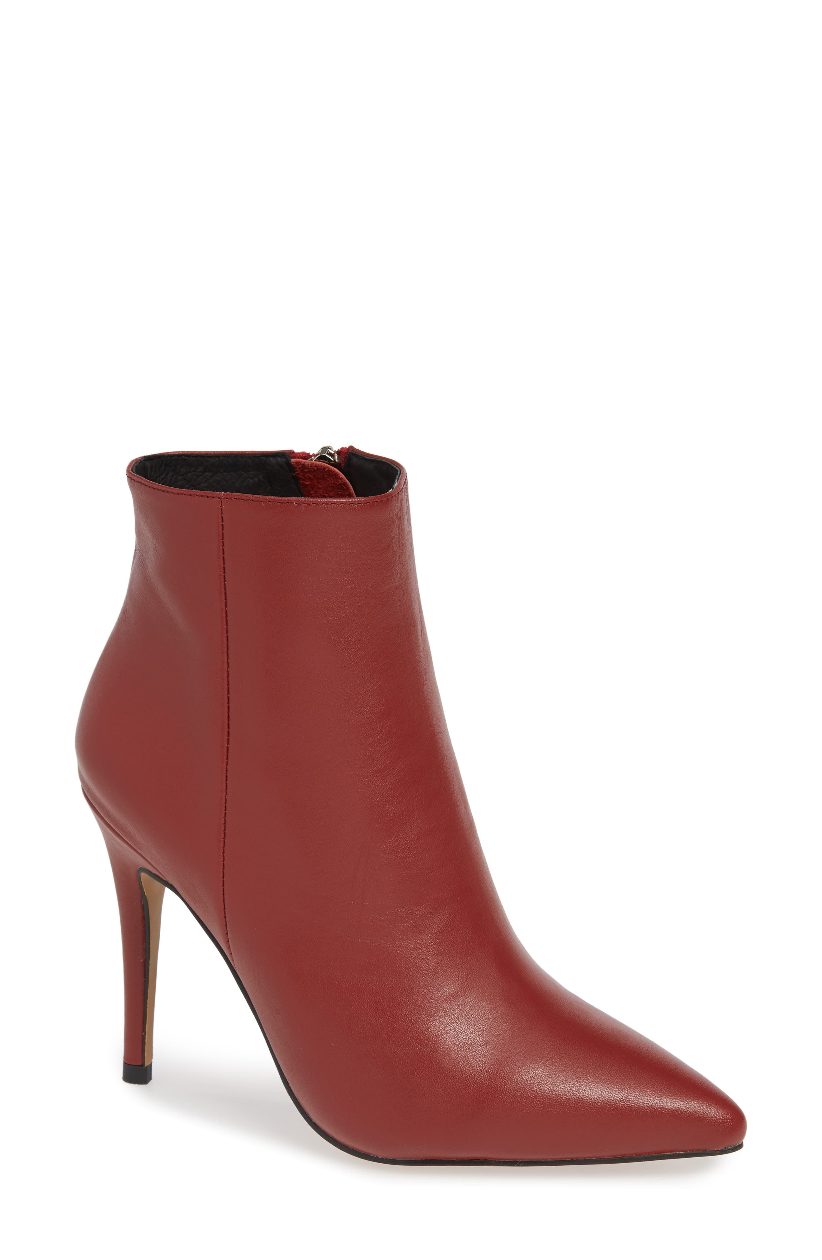 ALIAS MAE Tally Pointy Toe Bootie in Red Leather
