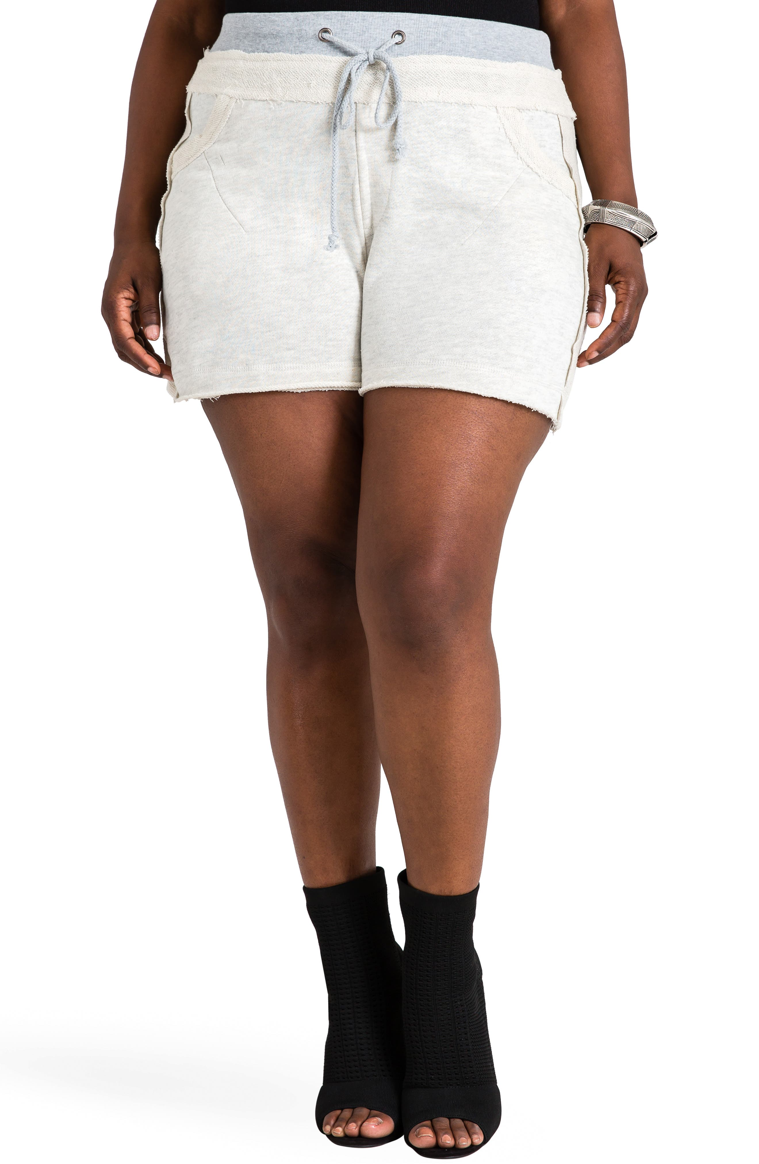 Cassy French Terry Shorts,                         Main,                         color, GREY