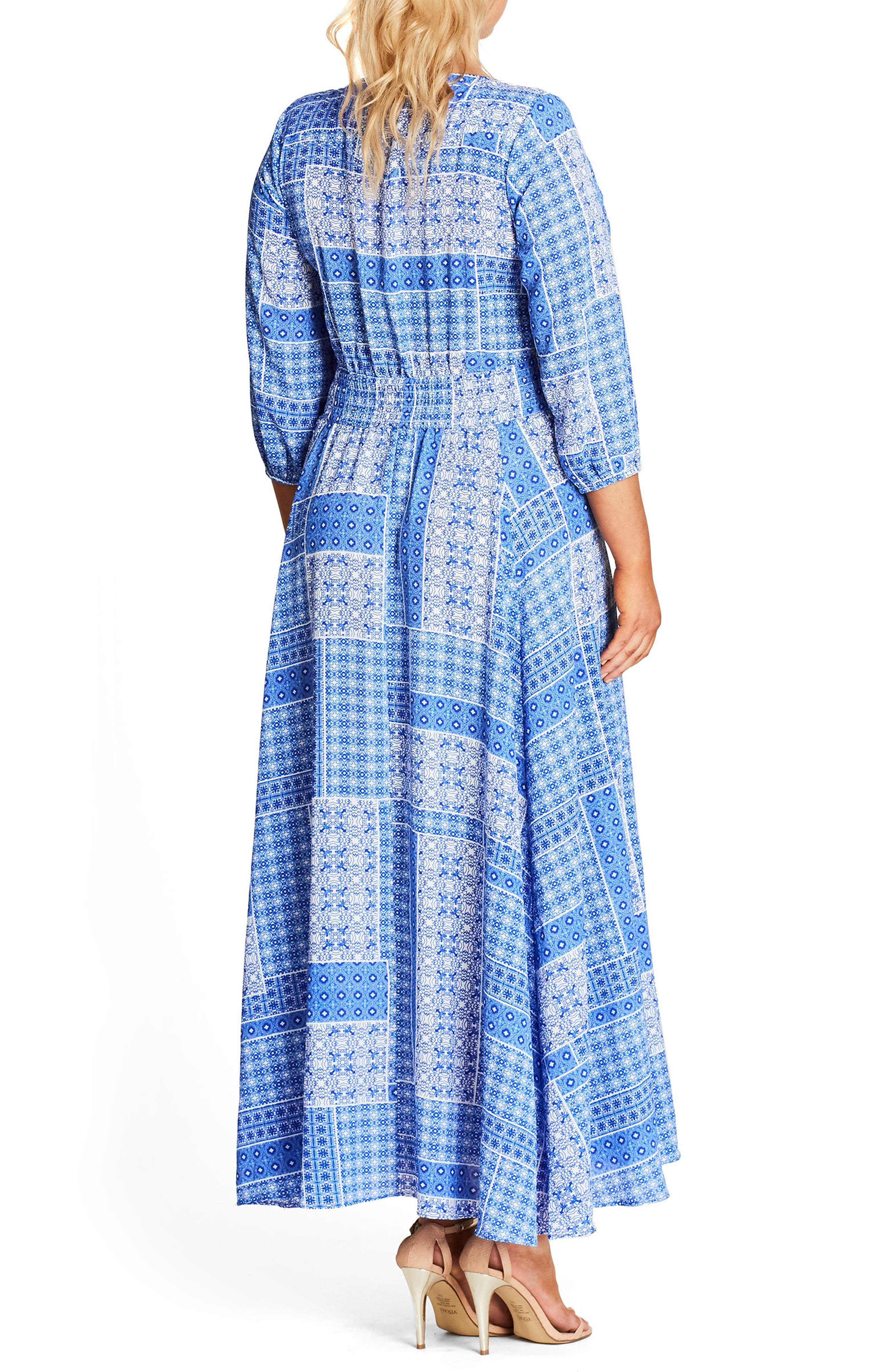 China Plate A-Line Maxi Dress,                             Alternate thumbnail 2, color,                             CHINA PLATE