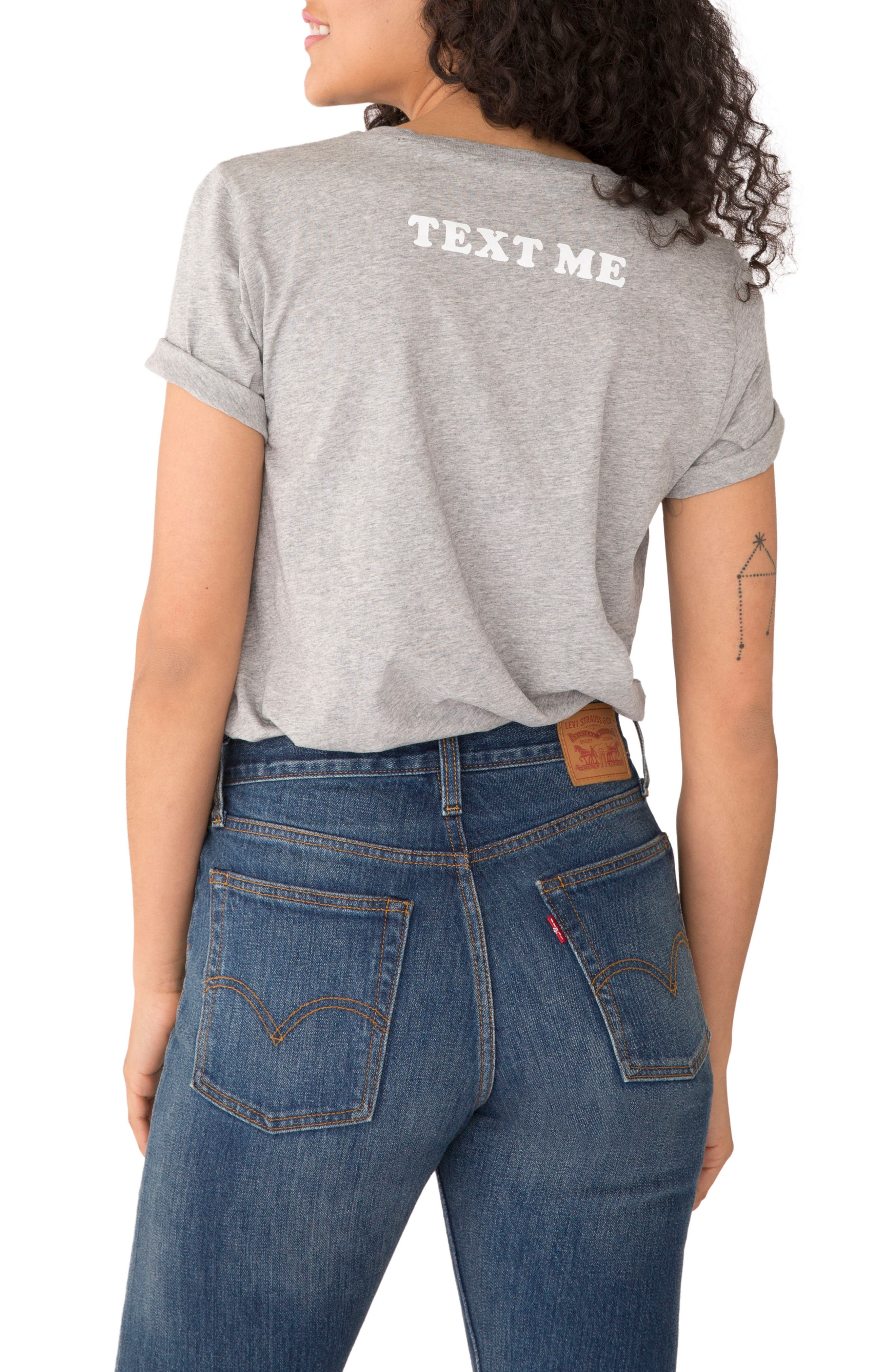 You're Cute Text Me Classic Tee,                             Alternate thumbnail 2, color,                             051