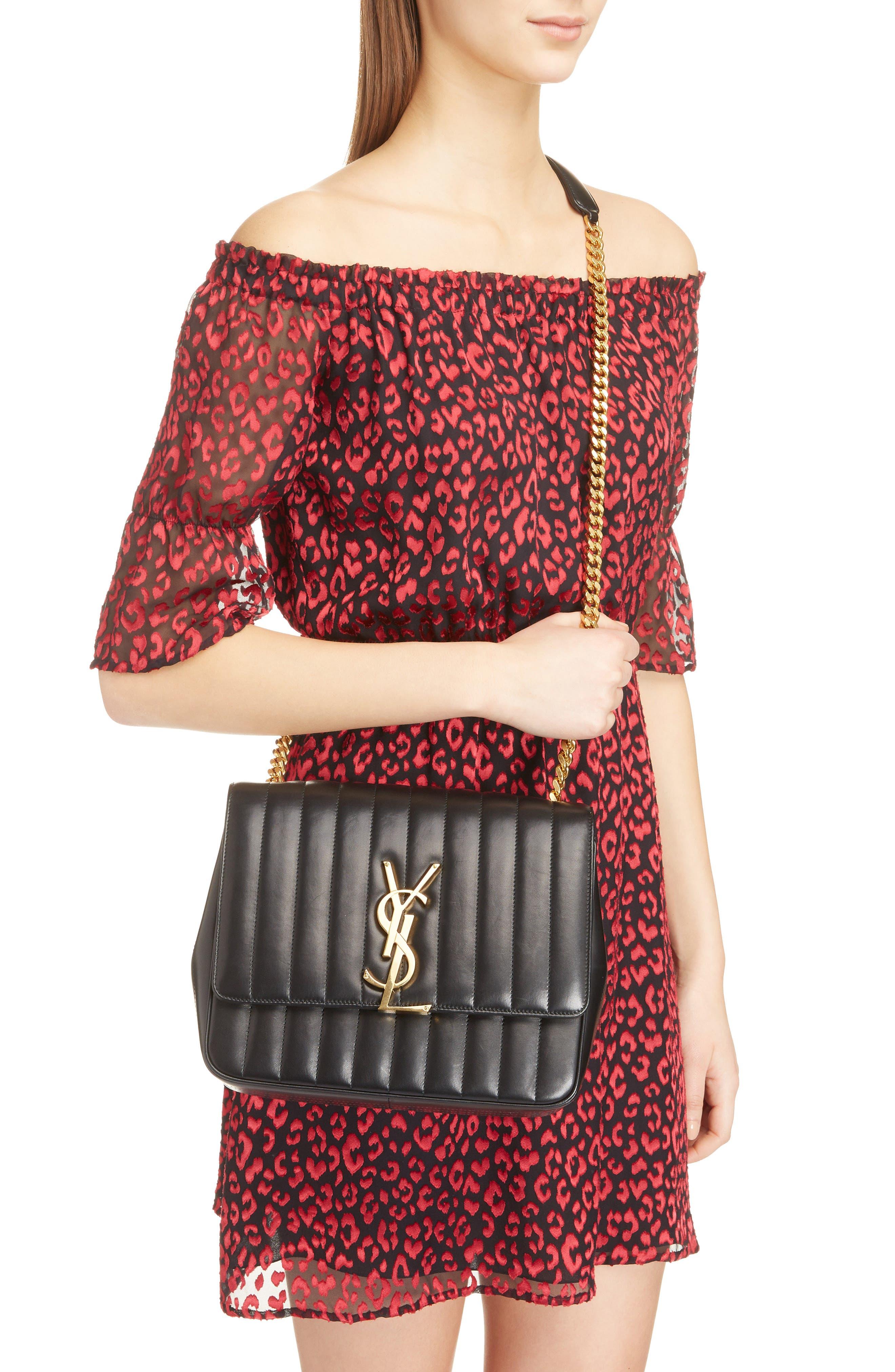 Large Vicky Leather Crossbody Bag,                             Alternate thumbnail 2, color,                             NOIR