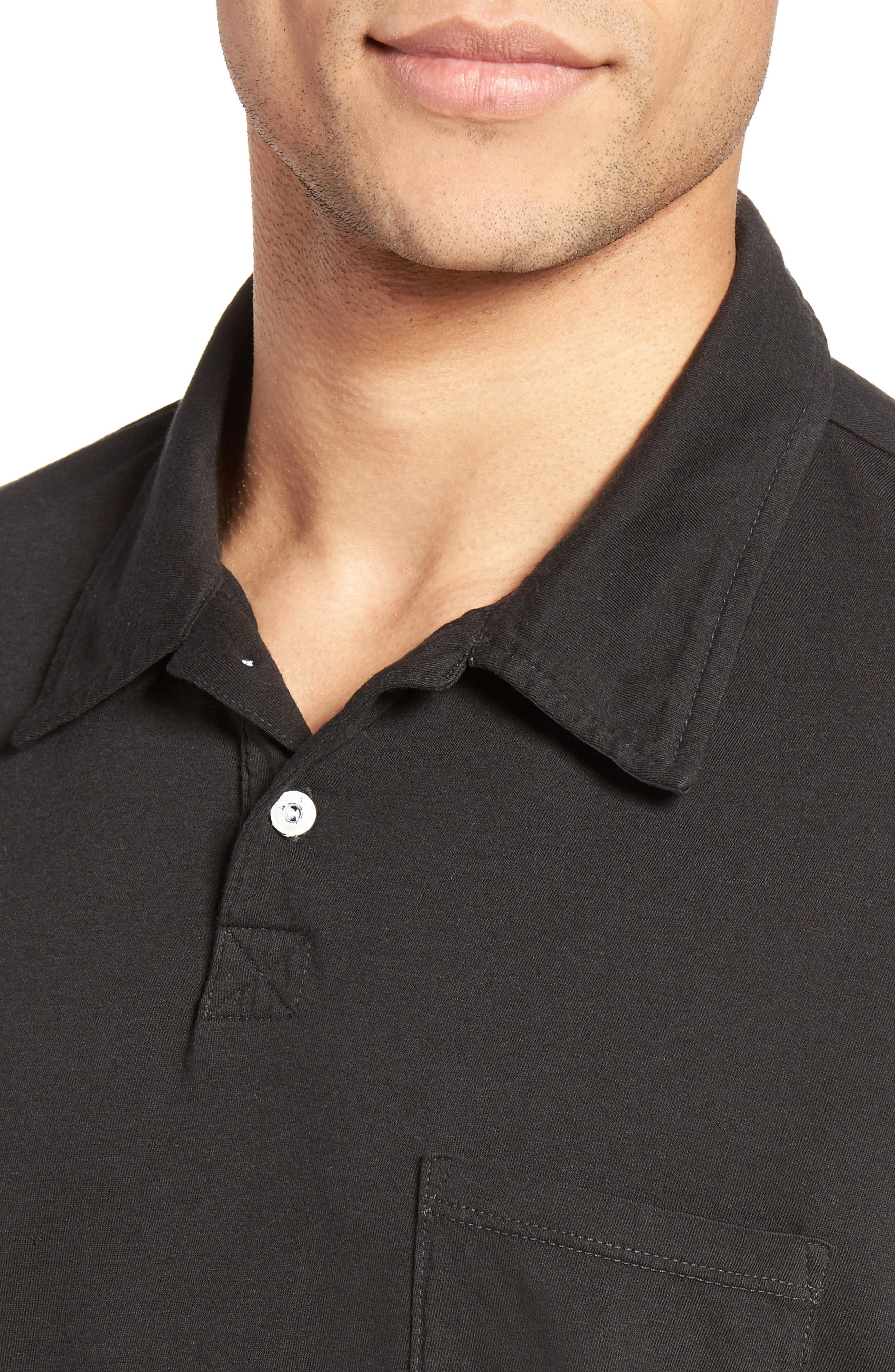 Essential Jersey Polo,                             Alternate thumbnail 4, color,                             001