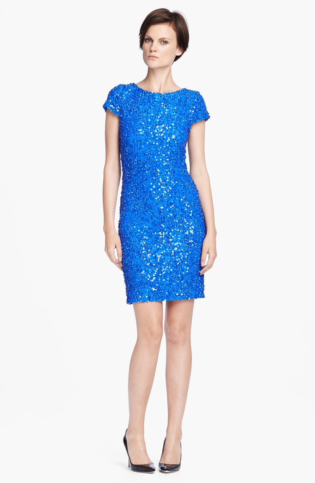 'Taryn' Sequin Dress,                             Main thumbnail 1, color,                             437