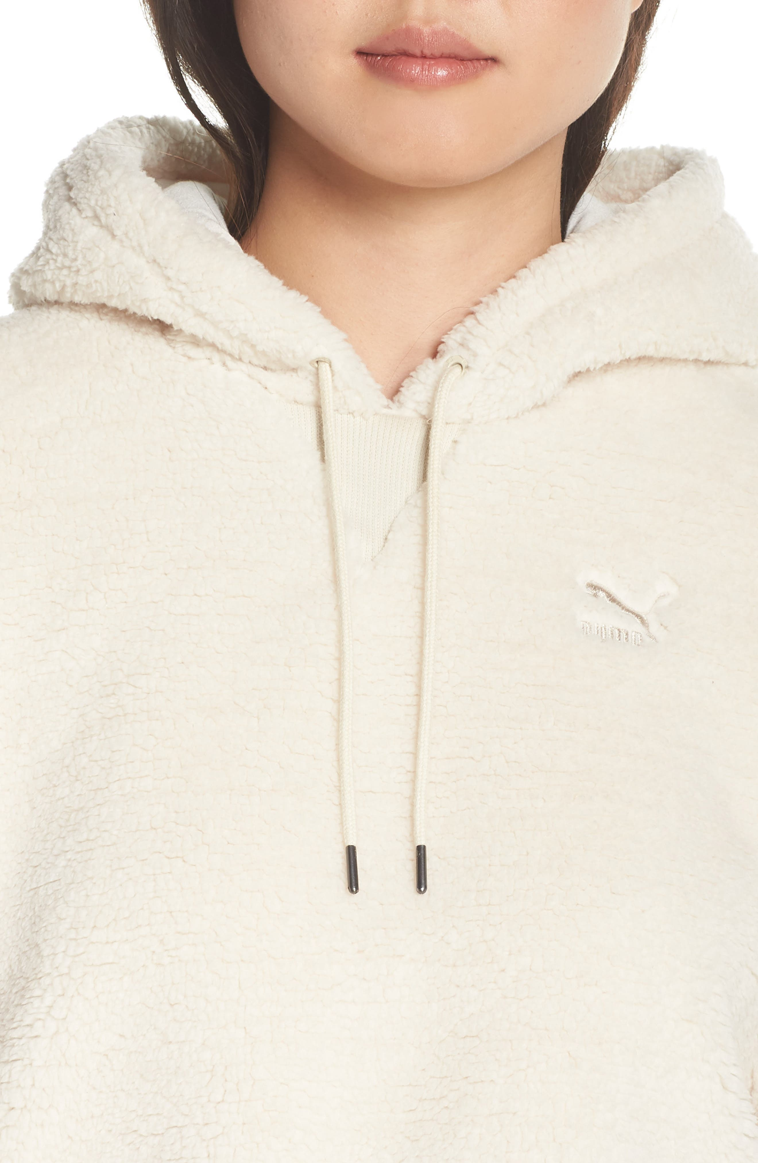 Downtown Fleece Hoodie,                             Alternate thumbnail 4, color,                             BIRCH