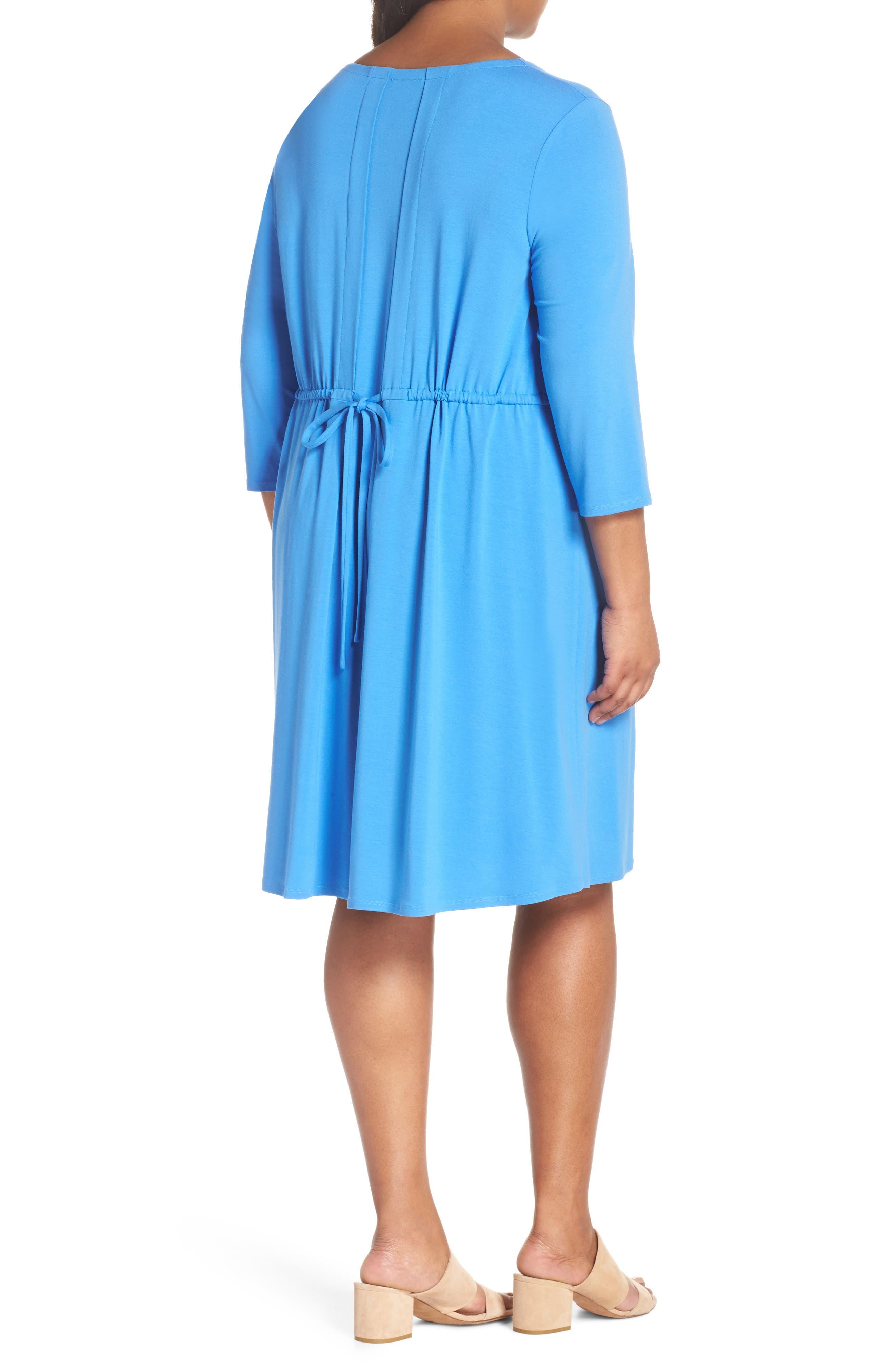 Jewel Neck Tie Back Dress,                             Alternate thumbnail 8, color,
