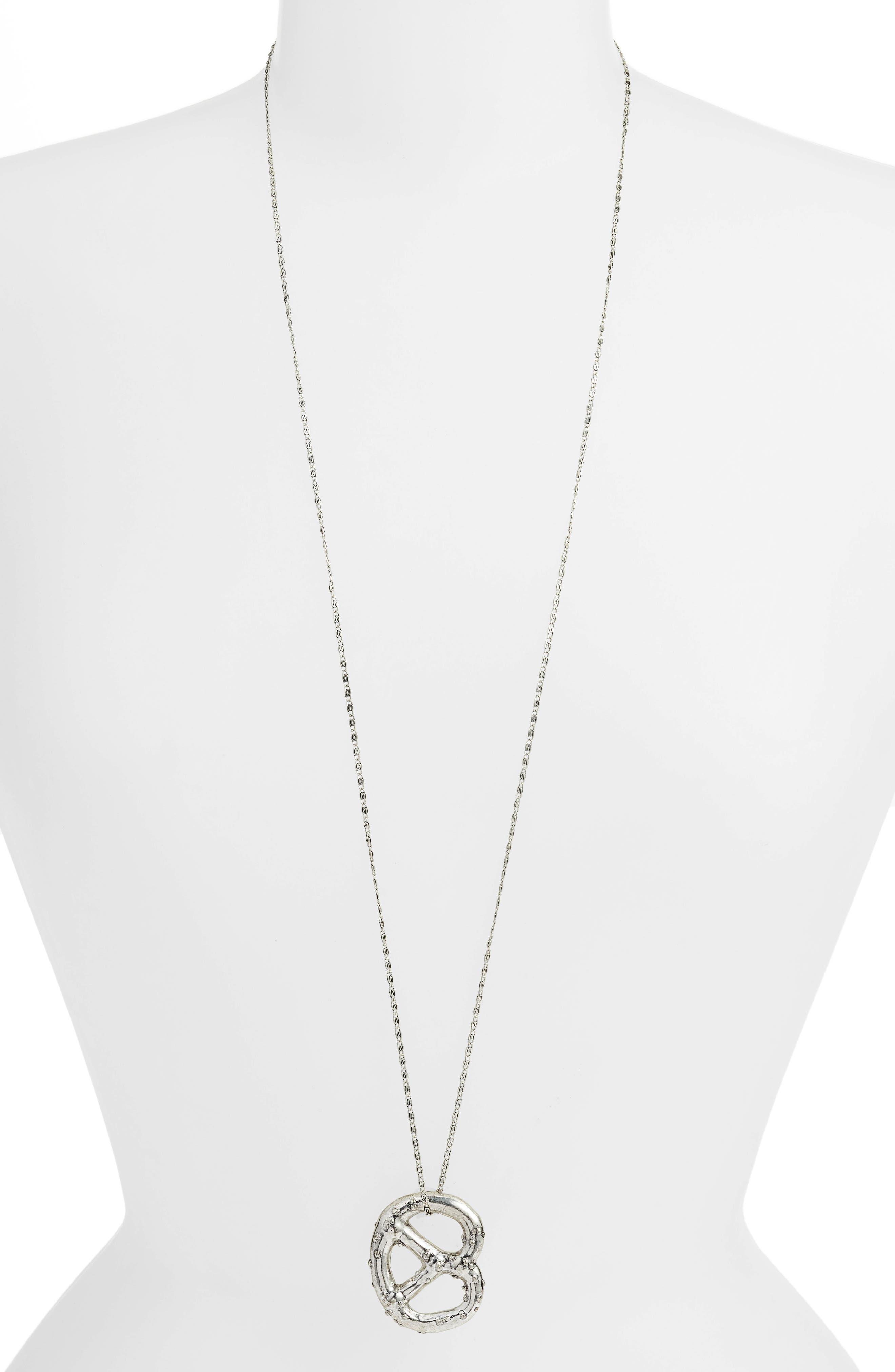 Pretzel Pendant Necklace,                         Main,                         color,