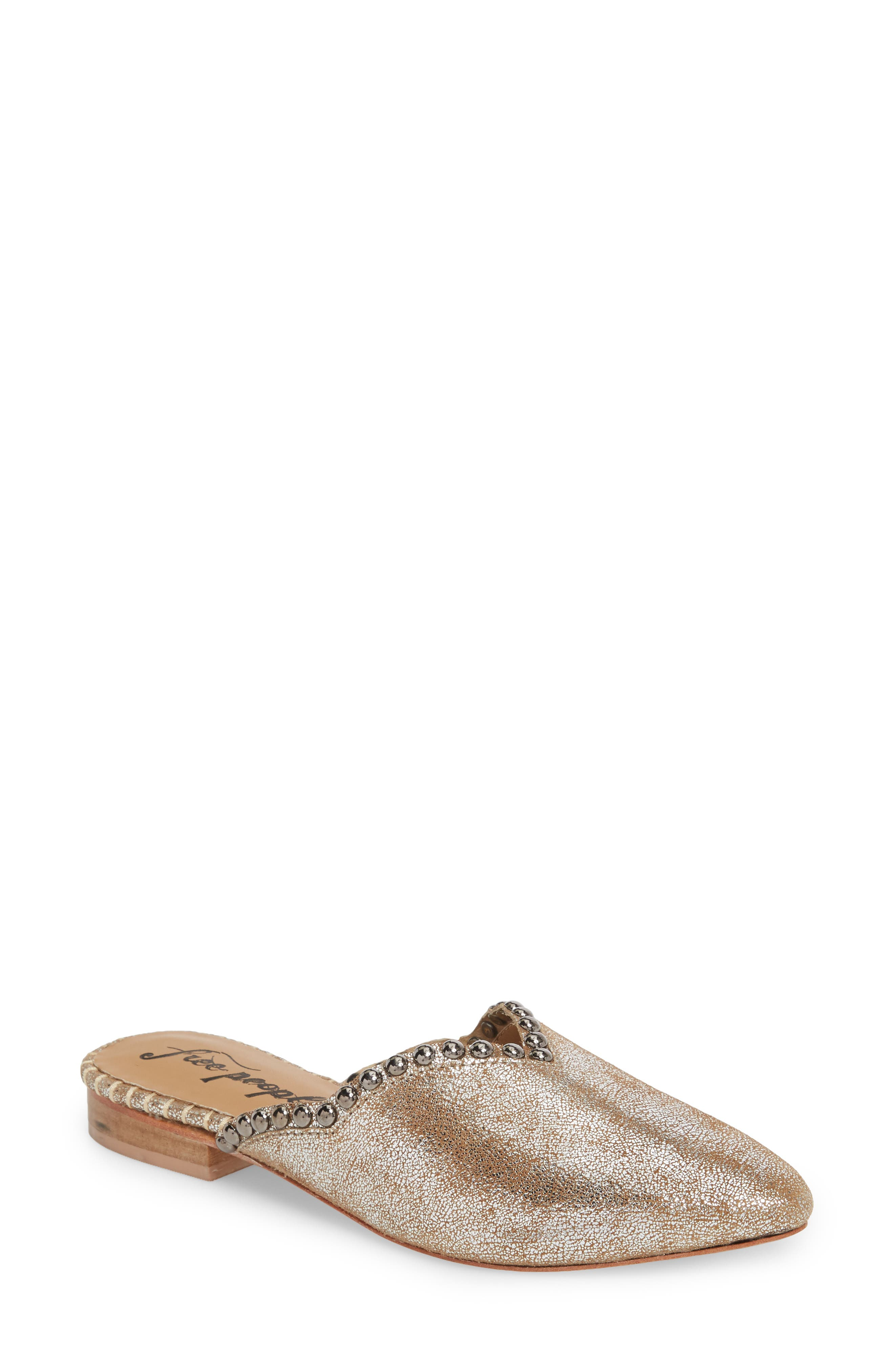 Newport Studded Mule,                         Main,                         color, SILVER