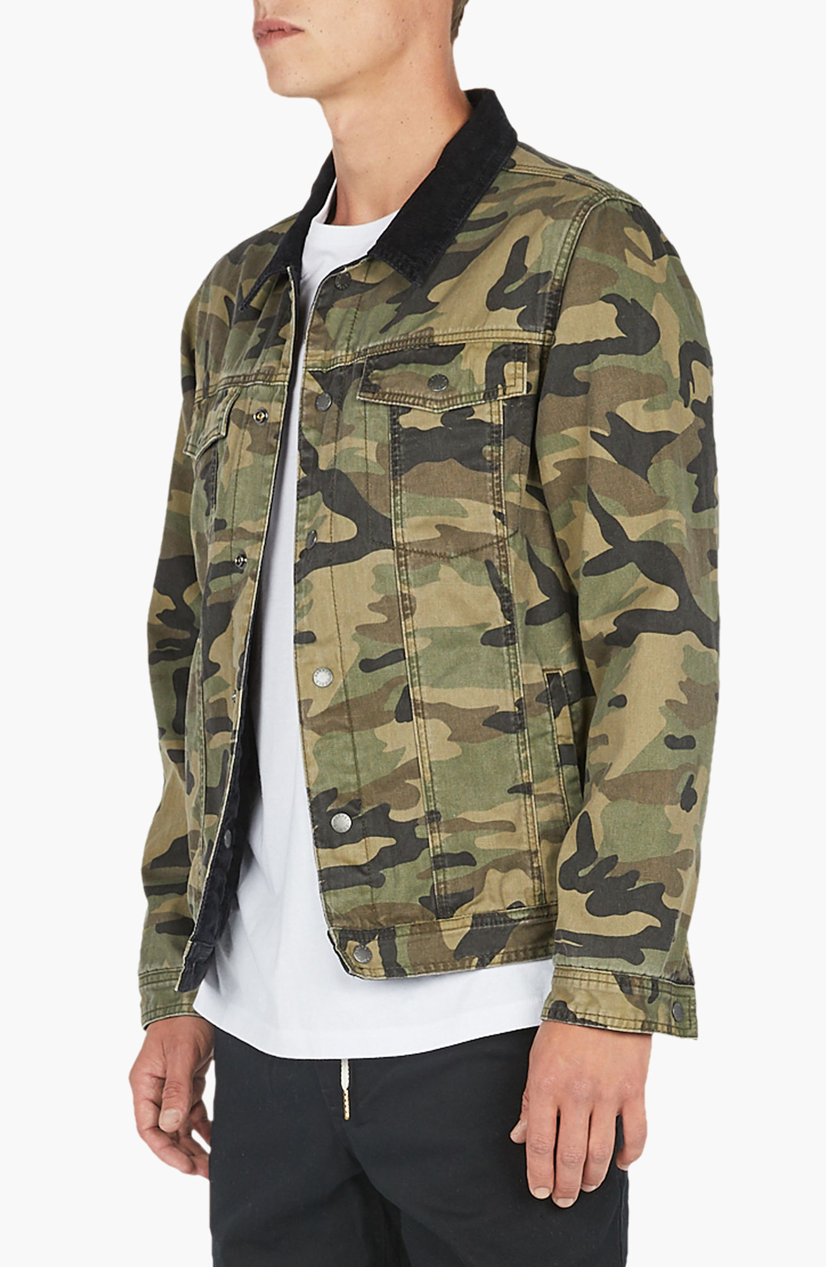 Reversible Denim Jacket,                             Alternate thumbnail 6, color,                             001