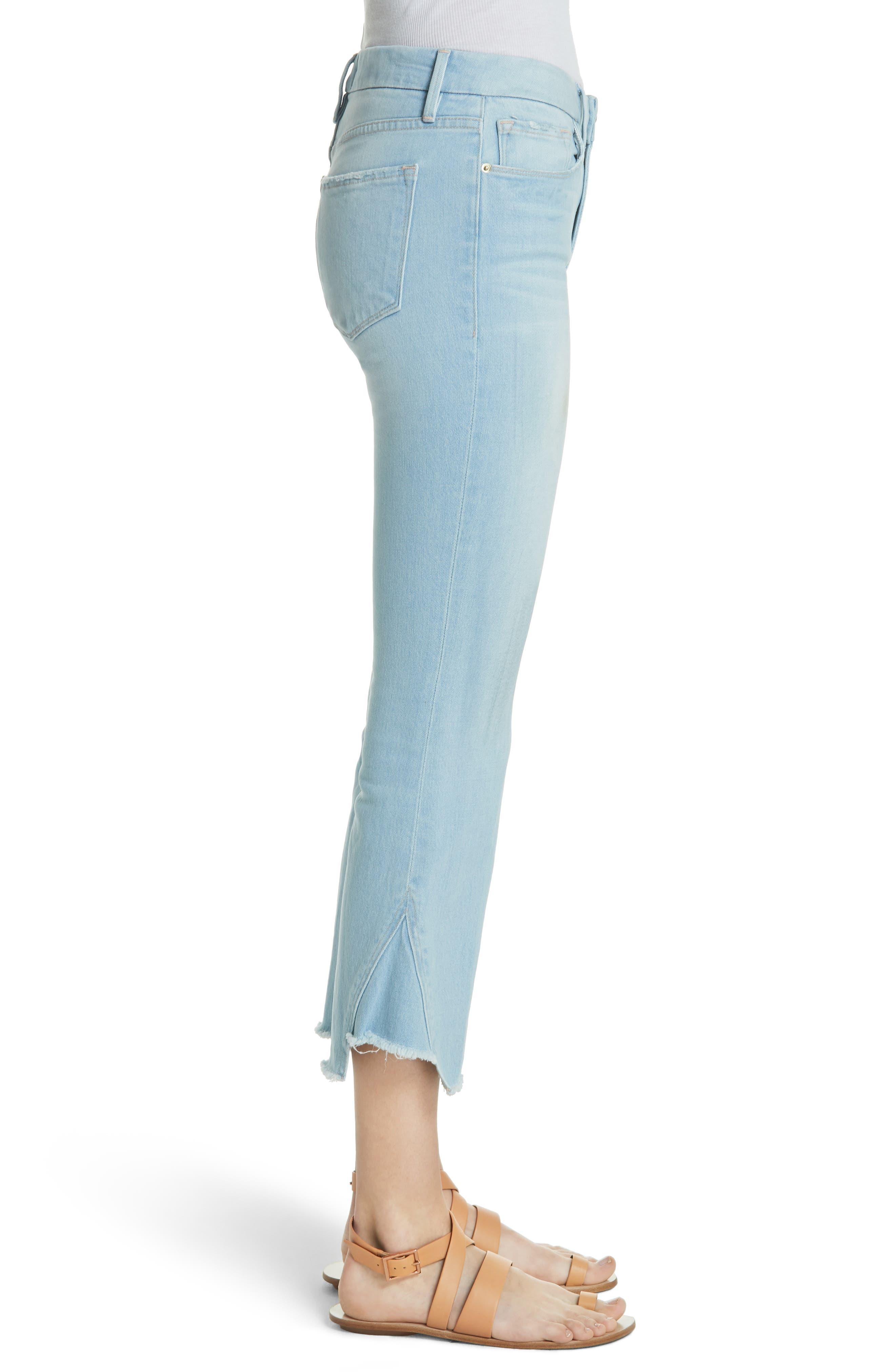Le Crop Gusset Step Hem Mini Boot Jeans,                             Alternate thumbnail 3, color,                             450