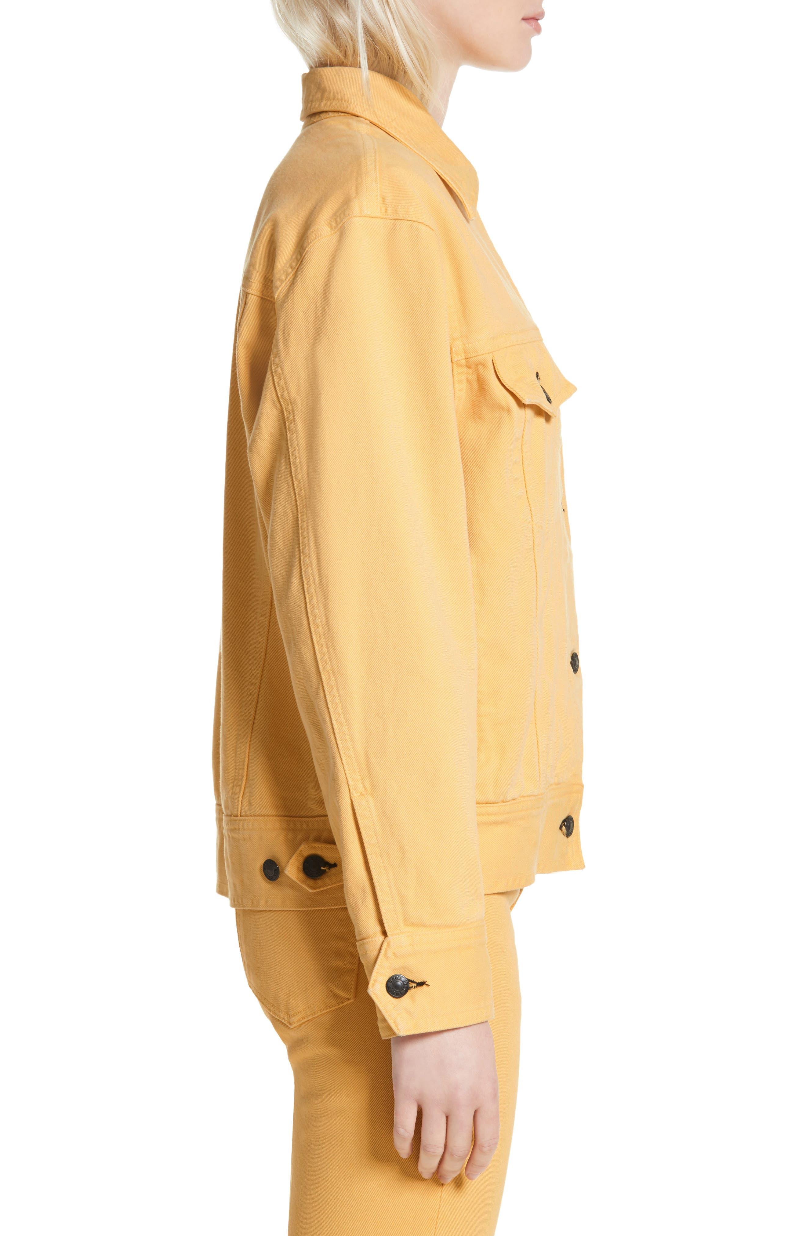 rag & bone Oversize Twill Jacket,                             Alternate thumbnail 3, color,