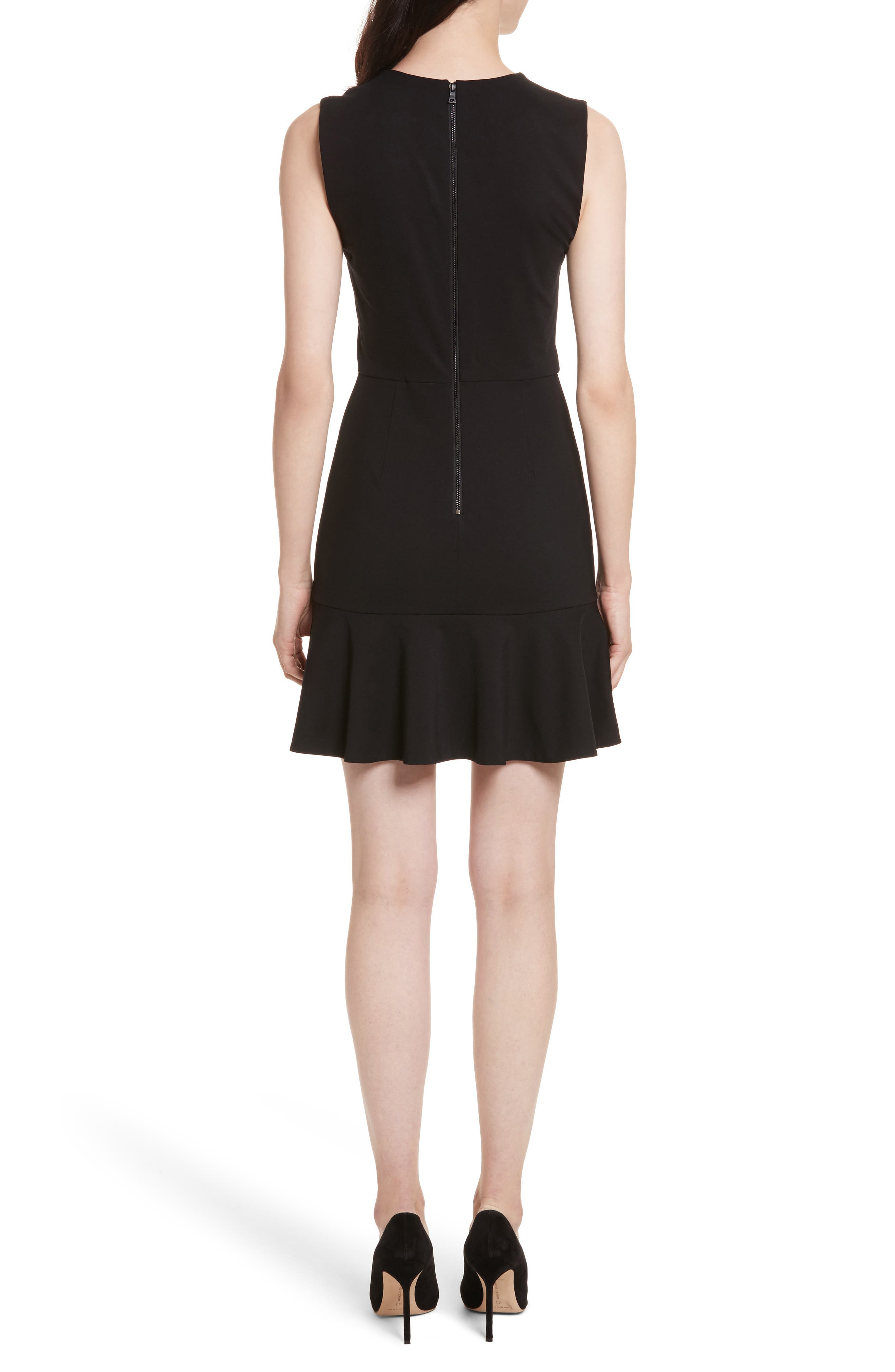 Onella V-Neck Dress,                             Alternate thumbnail 2, color,                             001