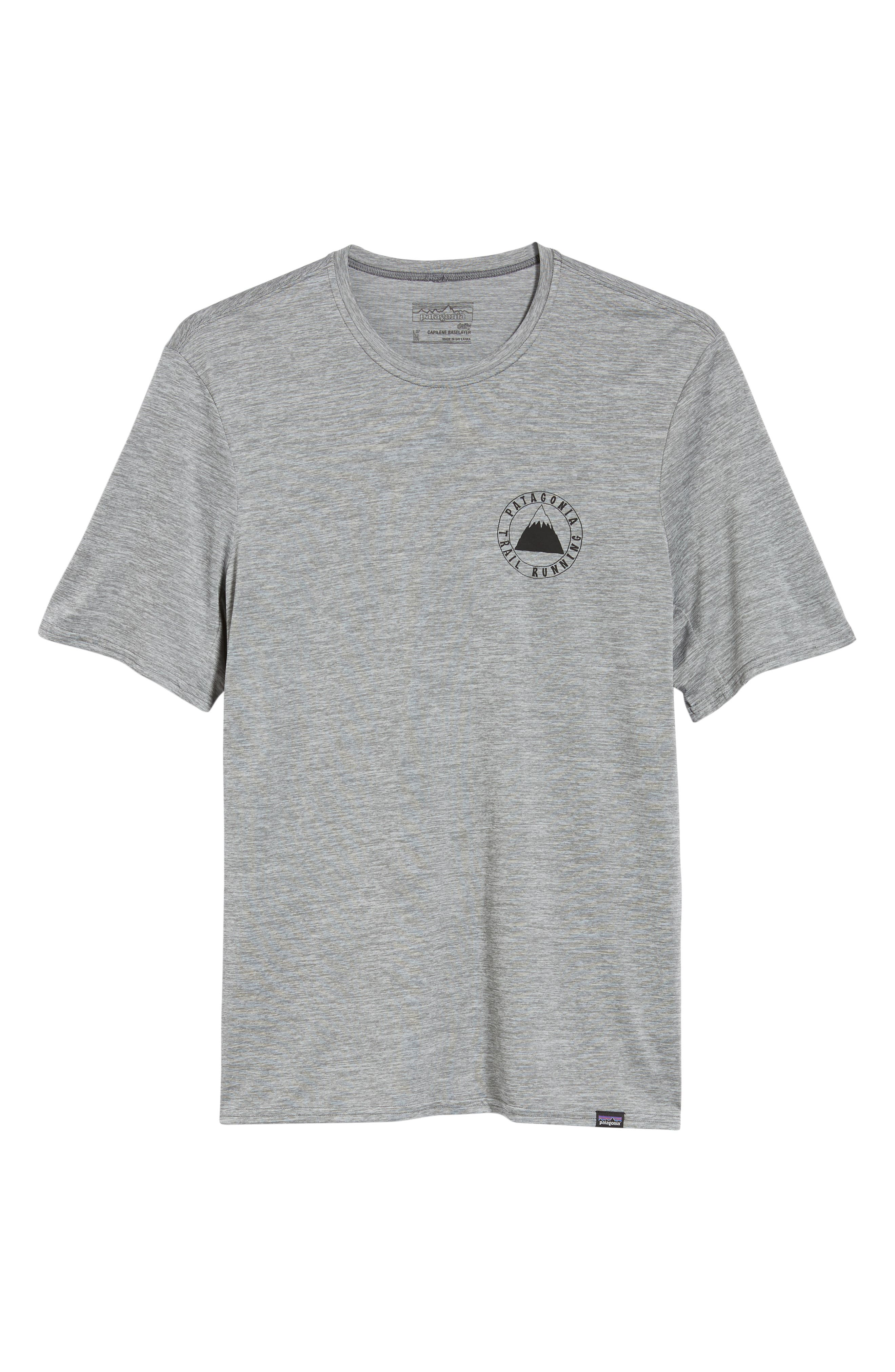 Capilene<sup>®</sup> Daily Regular Fit T-Shirt,                             Alternate thumbnail 6, color,                             TRAIL MYSTIC FEATHER GREY