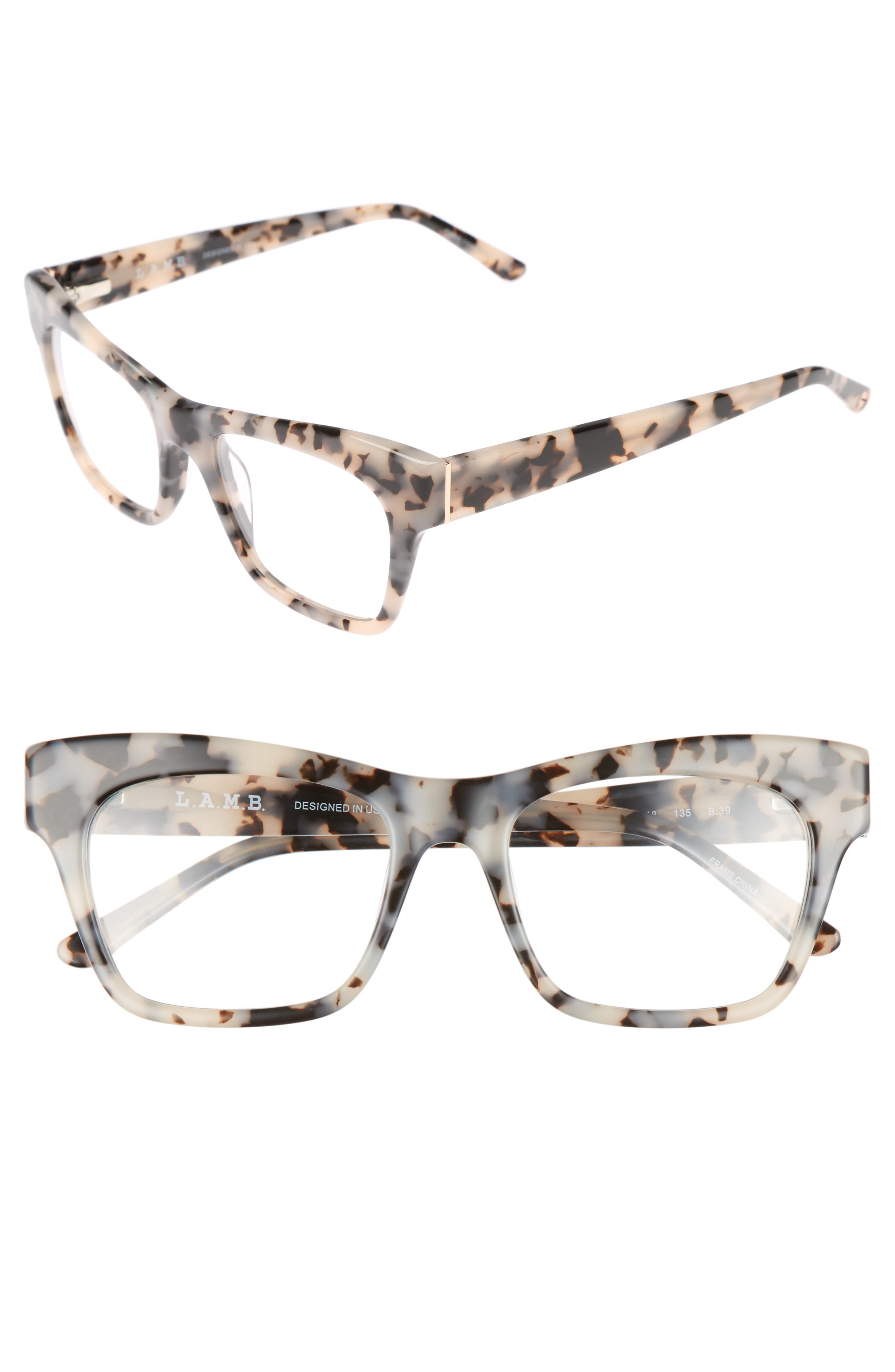50mm Optical Rectangular Glasses,                             Main thumbnail 2, color,