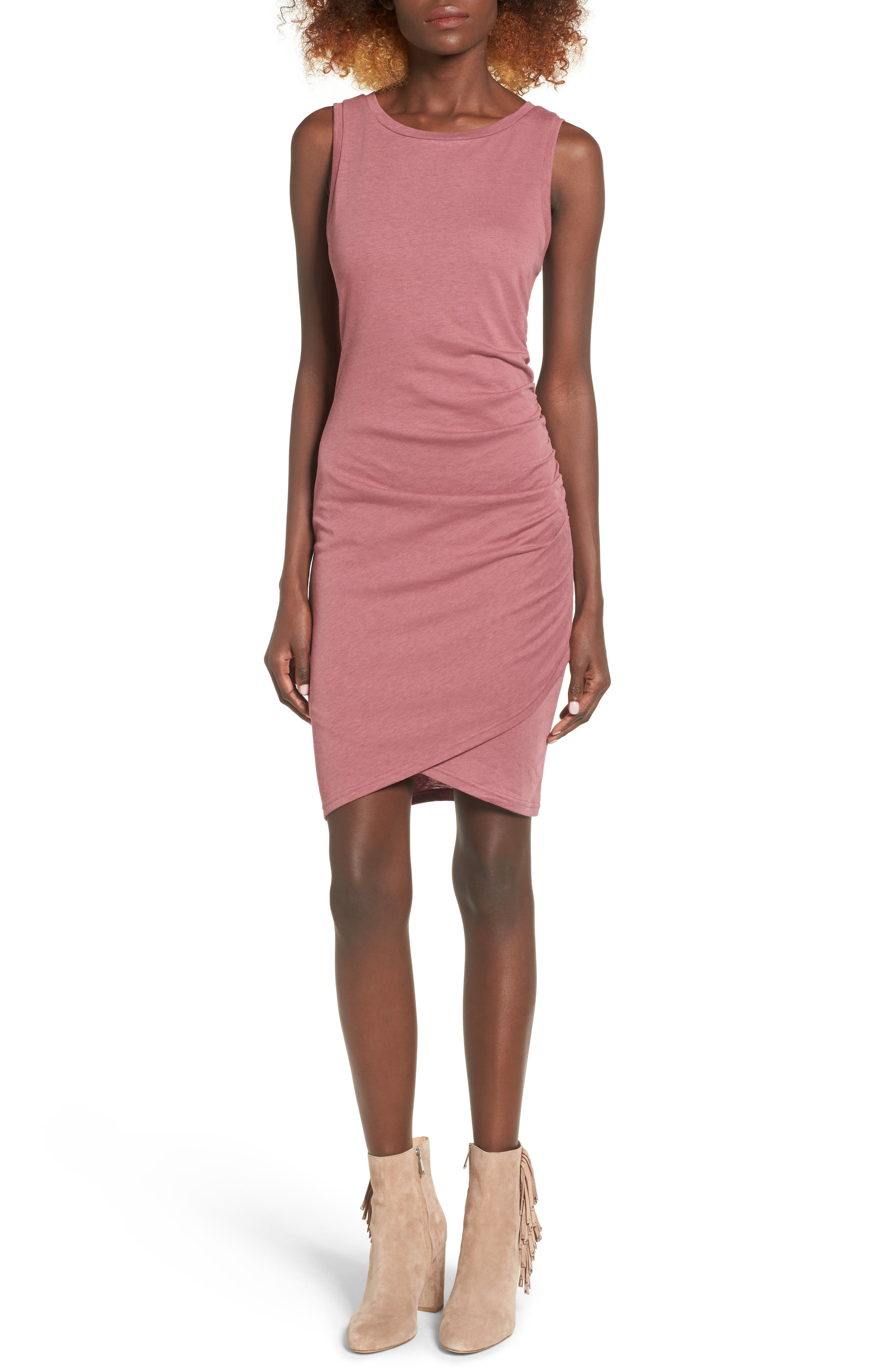 Ruched Body-Con Tank Dress,                             Alternate thumbnail 70, color,