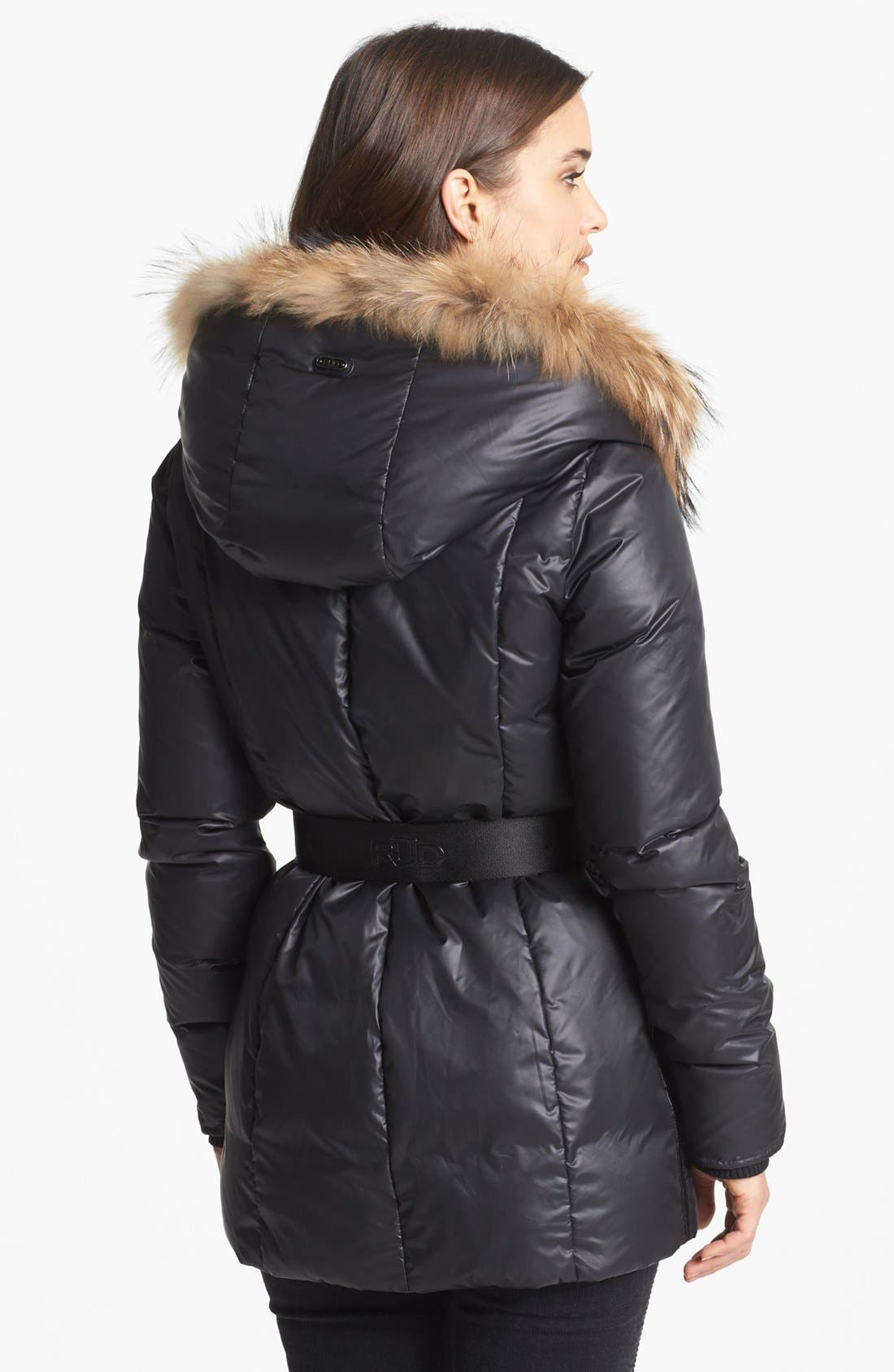'Jordana' Genuine Coyote Fur & Cable Knit Trim Parka,                             Alternate thumbnail 3, color,                             001