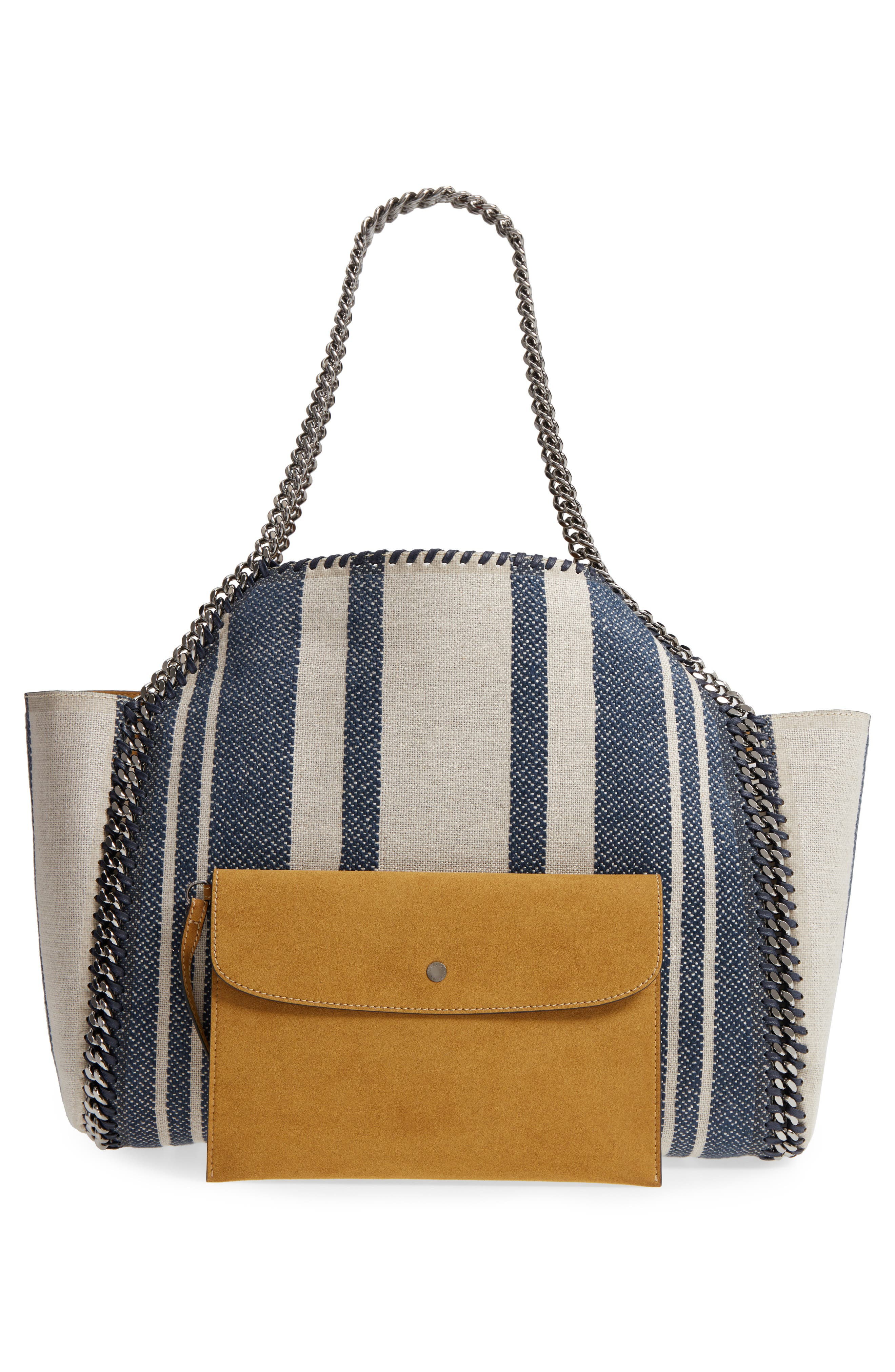 Falabella Small Reversible Canvas & Faux Leather Tote,                             Alternate thumbnail 3, color,                             400