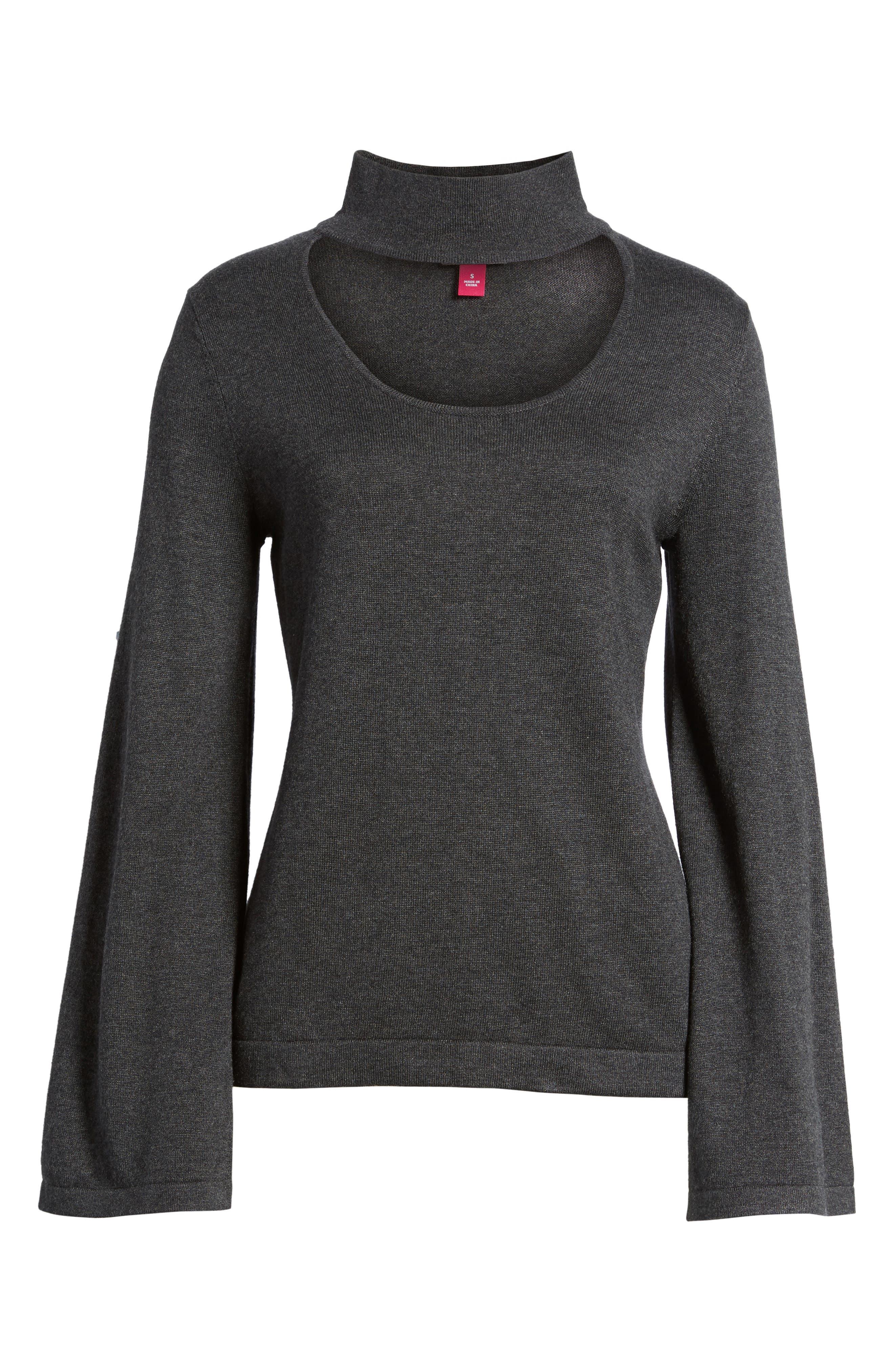 Bell Sleeve Choker Neck Sweater,                             Alternate thumbnail 27, color,