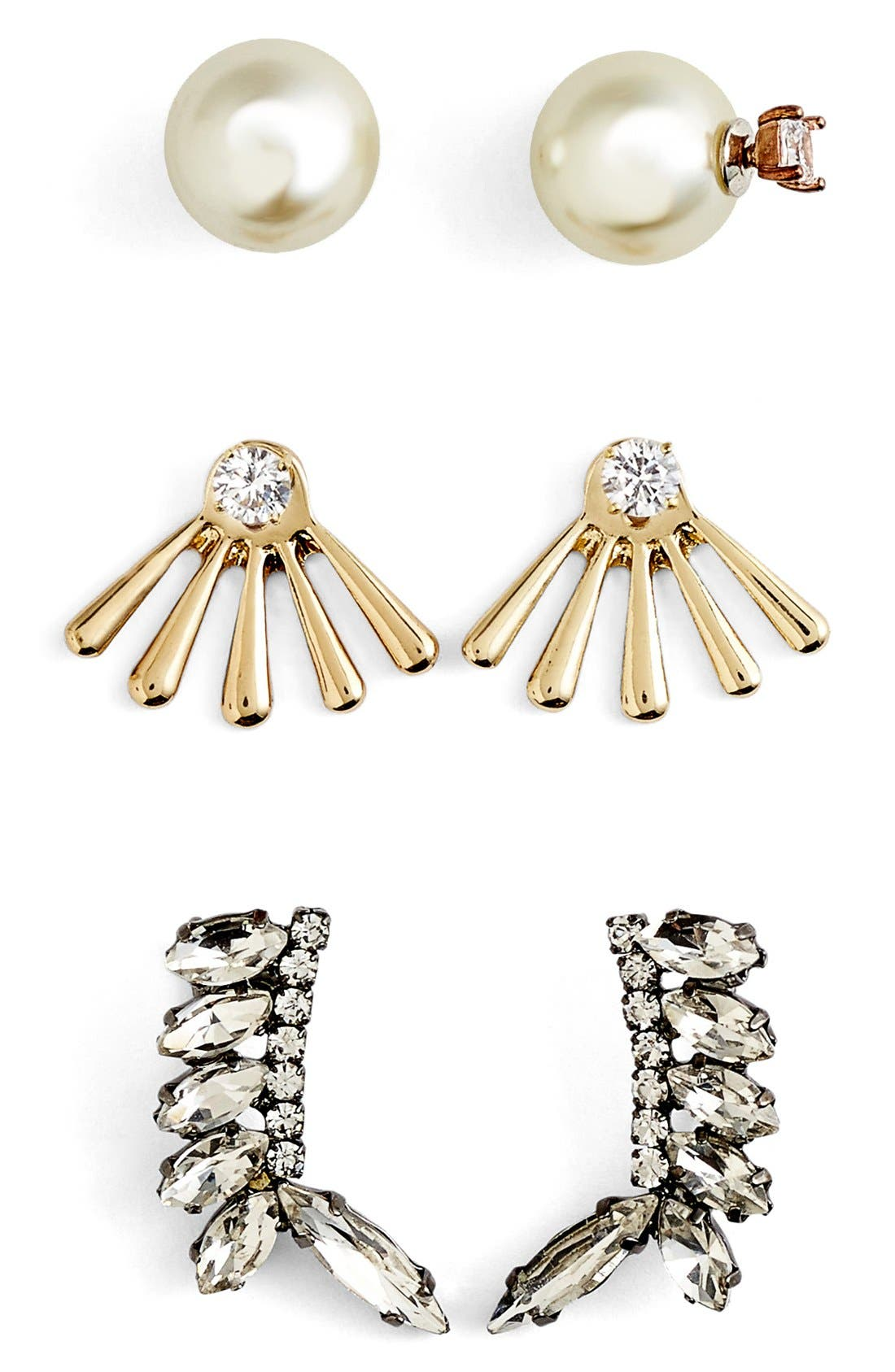 'Adornment - Play By Ear' Earring Gift Set,                             Main thumbnail 1, color,                             100