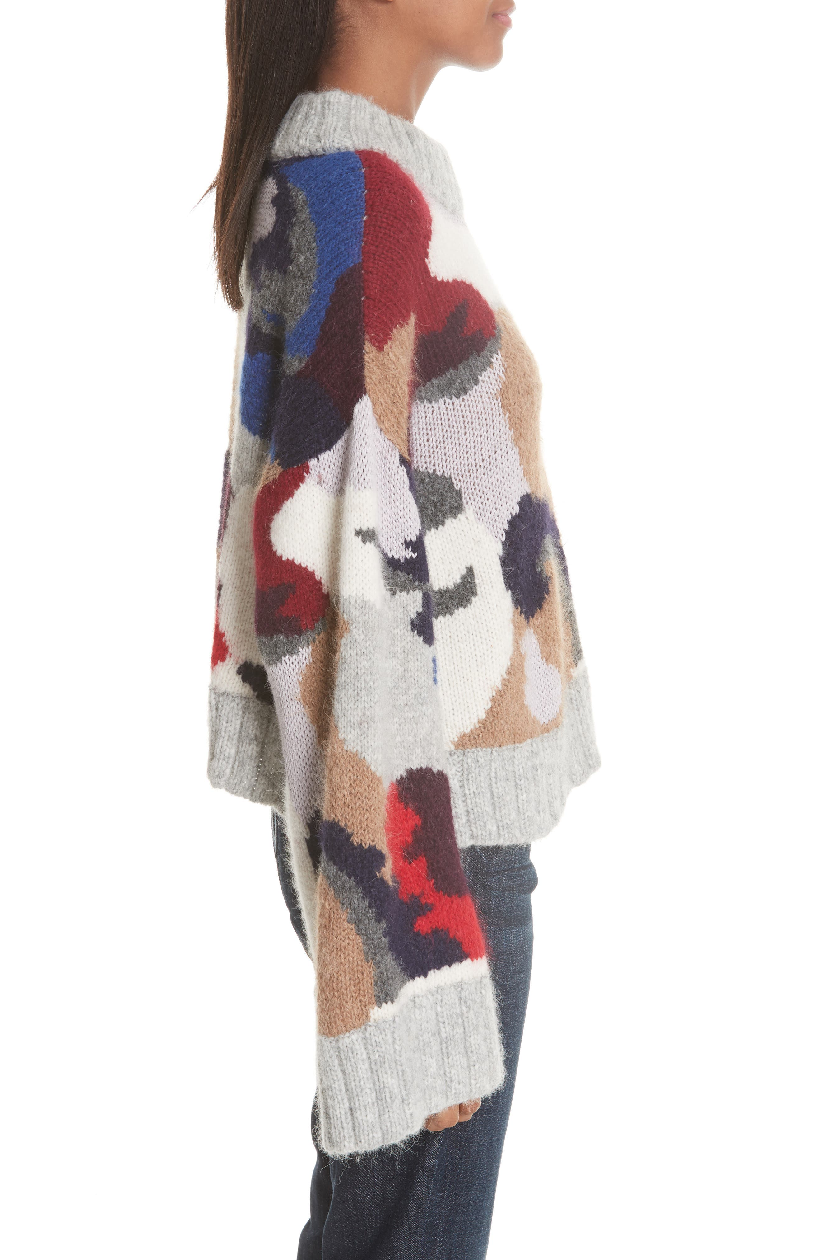 Kira Alpaca Blend Sweater,                             Alternate thumbnail 3, color,                             020