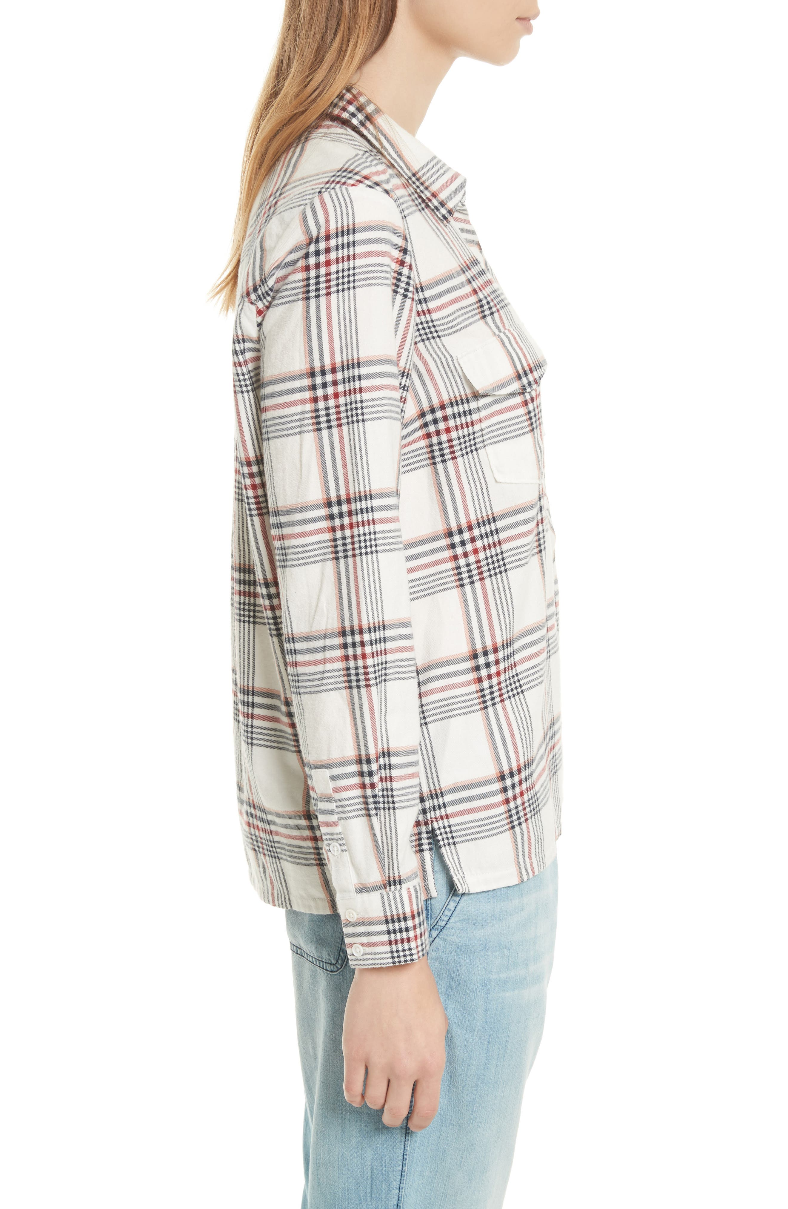 Antolina Plaid Cotton Top,                             Alternate thumbnail 3, color,