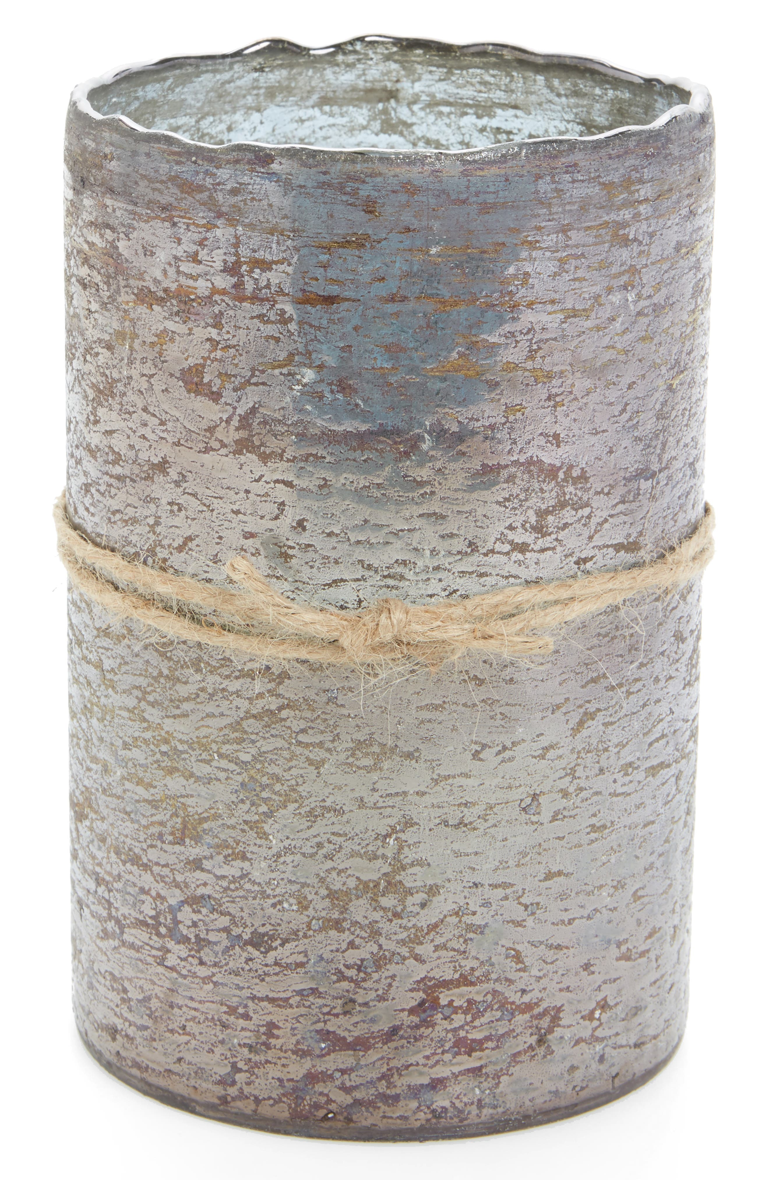 Smoky Grey Scented Hurricane Candle,                             Main thumbnail 1, color,                             020