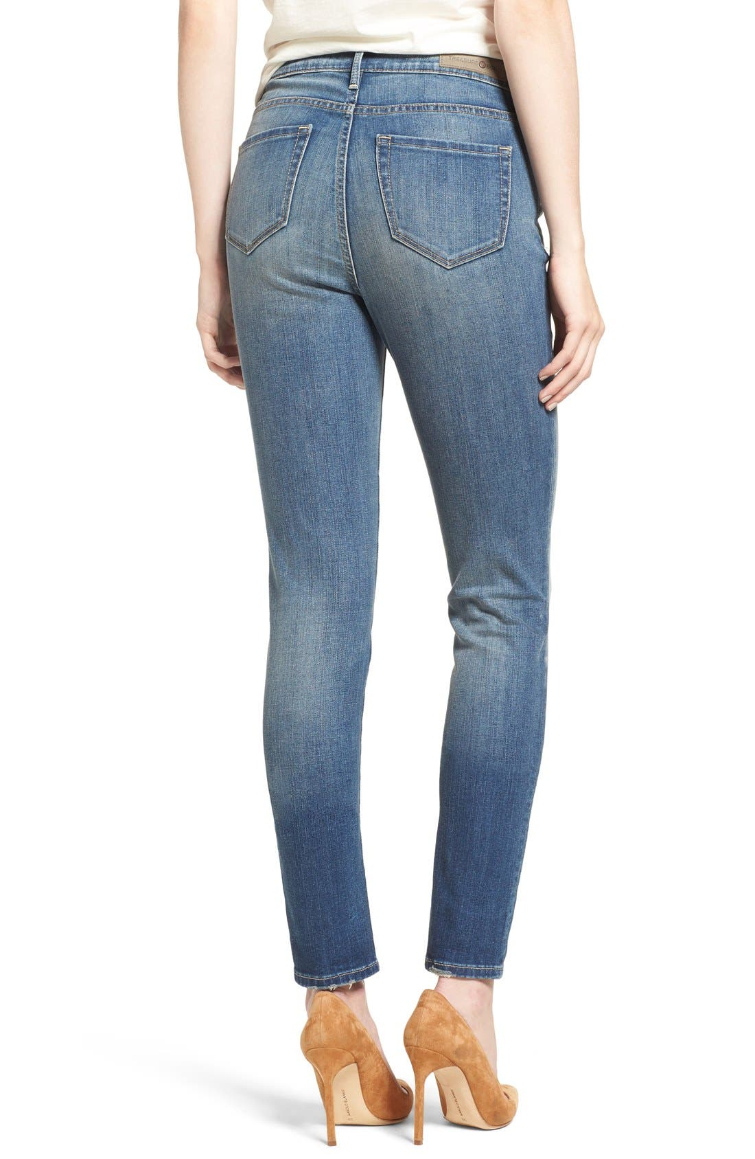 High Waist Skinny Jeans,                             Alternate thumbnail 10, color,                             400